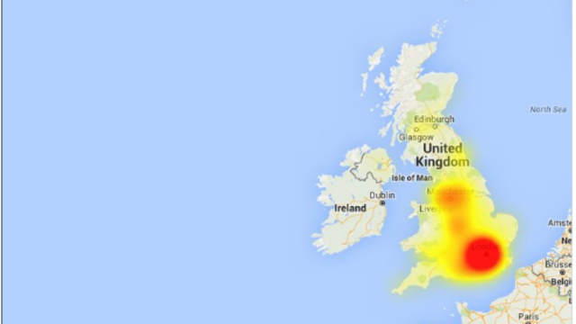Major UK Internet Outages