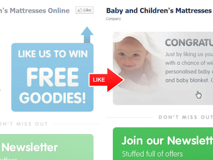 Facebook App Example Childrens Mattresses Online