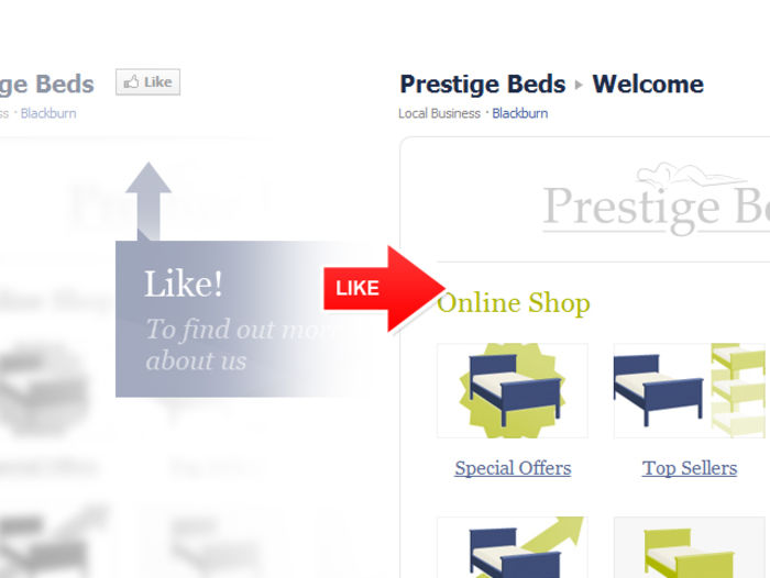 Facebook App Example Prestige Beds
