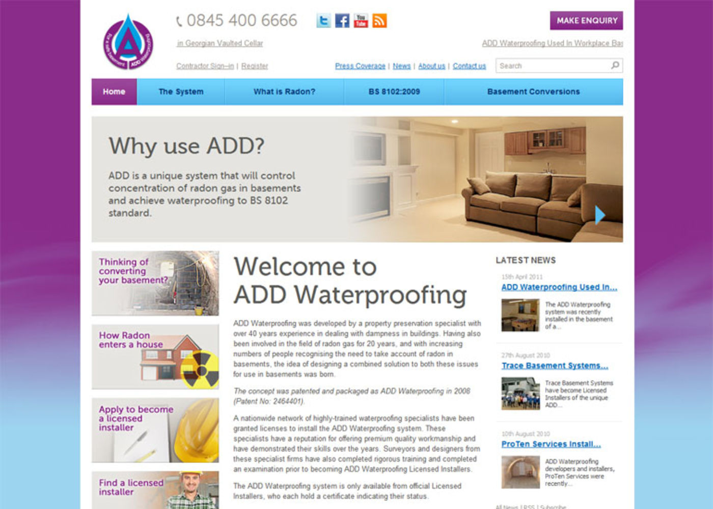 Add Waterproofing Homepage - Add Waterproofing