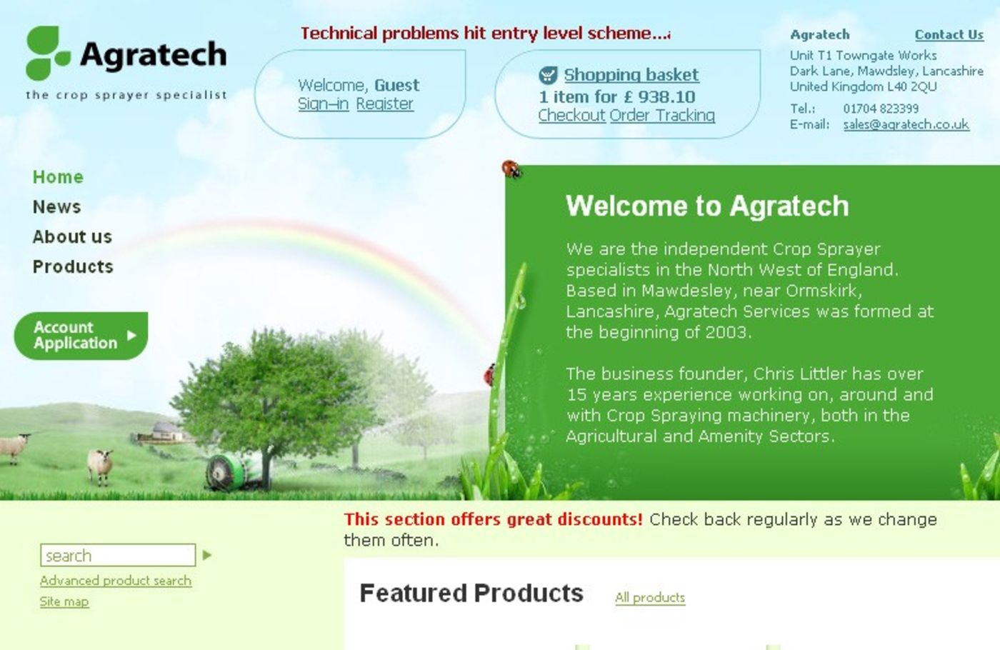 Agratech Services Homepage header - Agratech