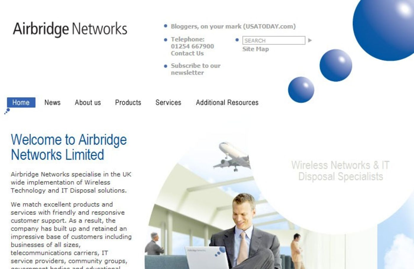 Airbridge Networks Homepage header - Airbridge