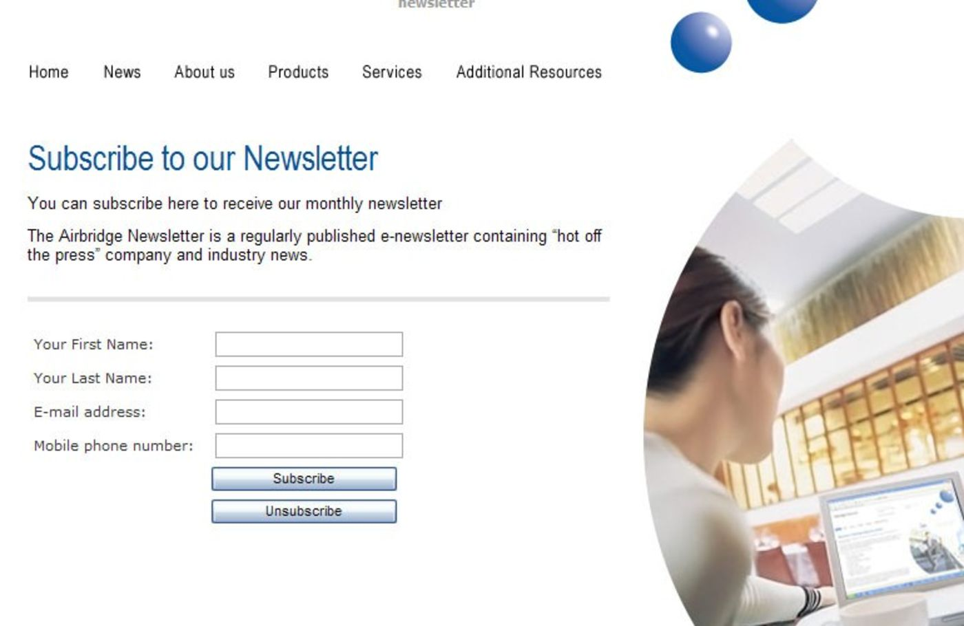 Airbridge Networks Subscribe to our newsletter - Airbridge