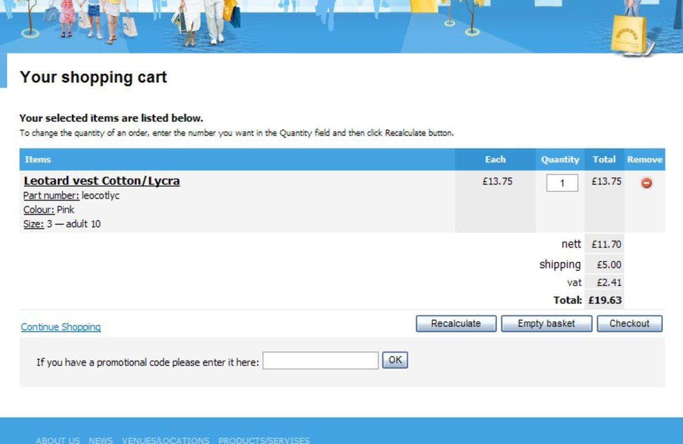 Archway Group Shopping cart