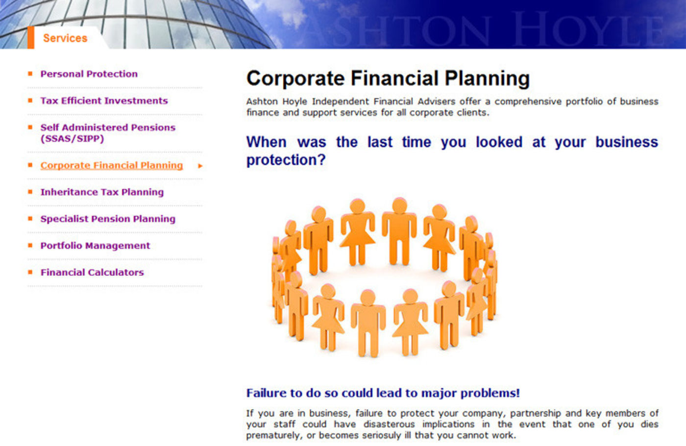 Ashton Hoyle Independent Financial Advisers Corporate financial planning