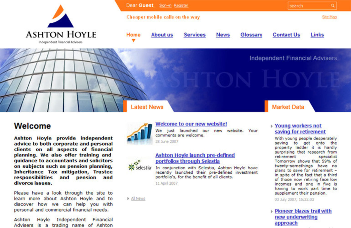 Ashton Hoyle Independent Financial Advisers Homepage header - Ashton Hoyle