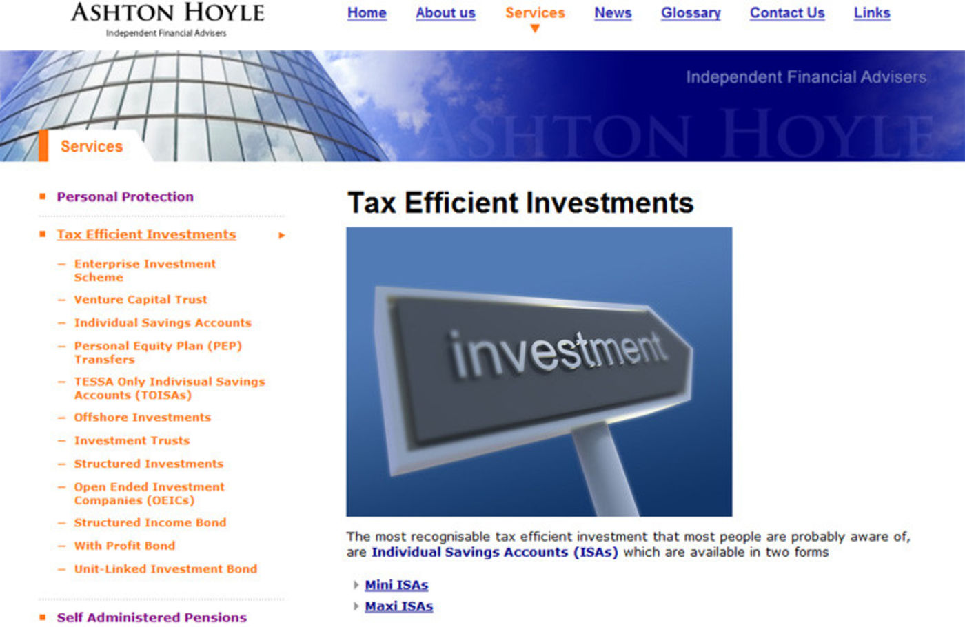 Ashton Hoyle Independent Financial Advisers The efficient investments