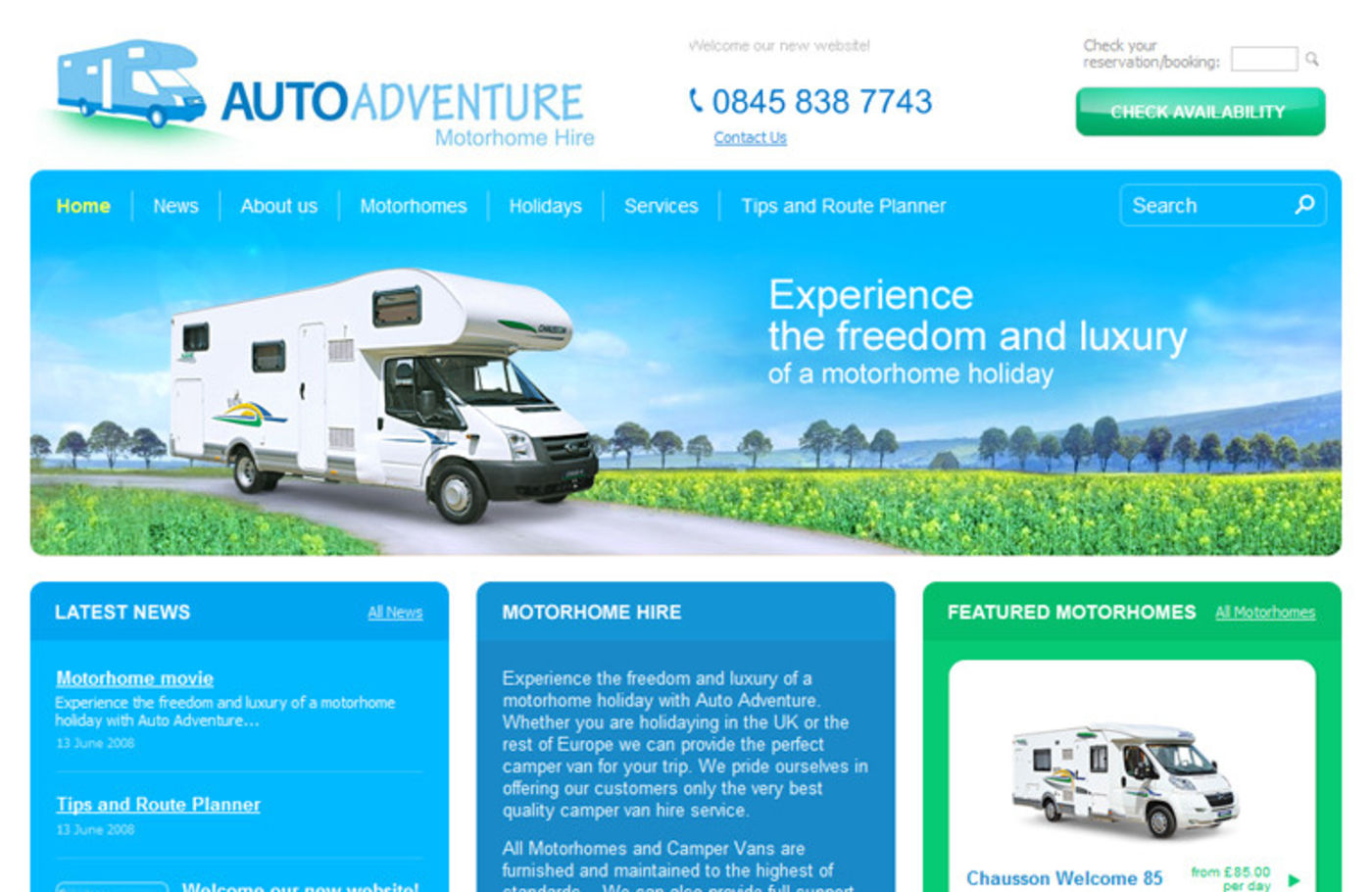 Auto Adventure Homepage header