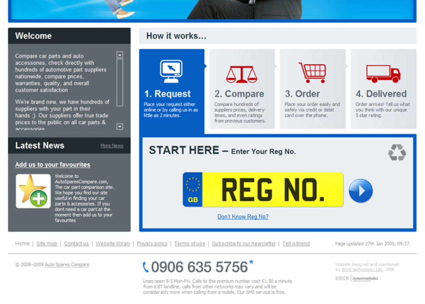 Auto Spares Compare Homepage footer