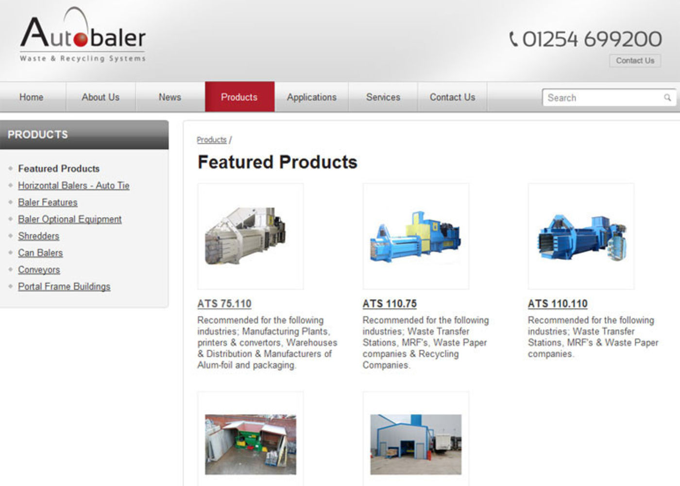Autobaler Products list