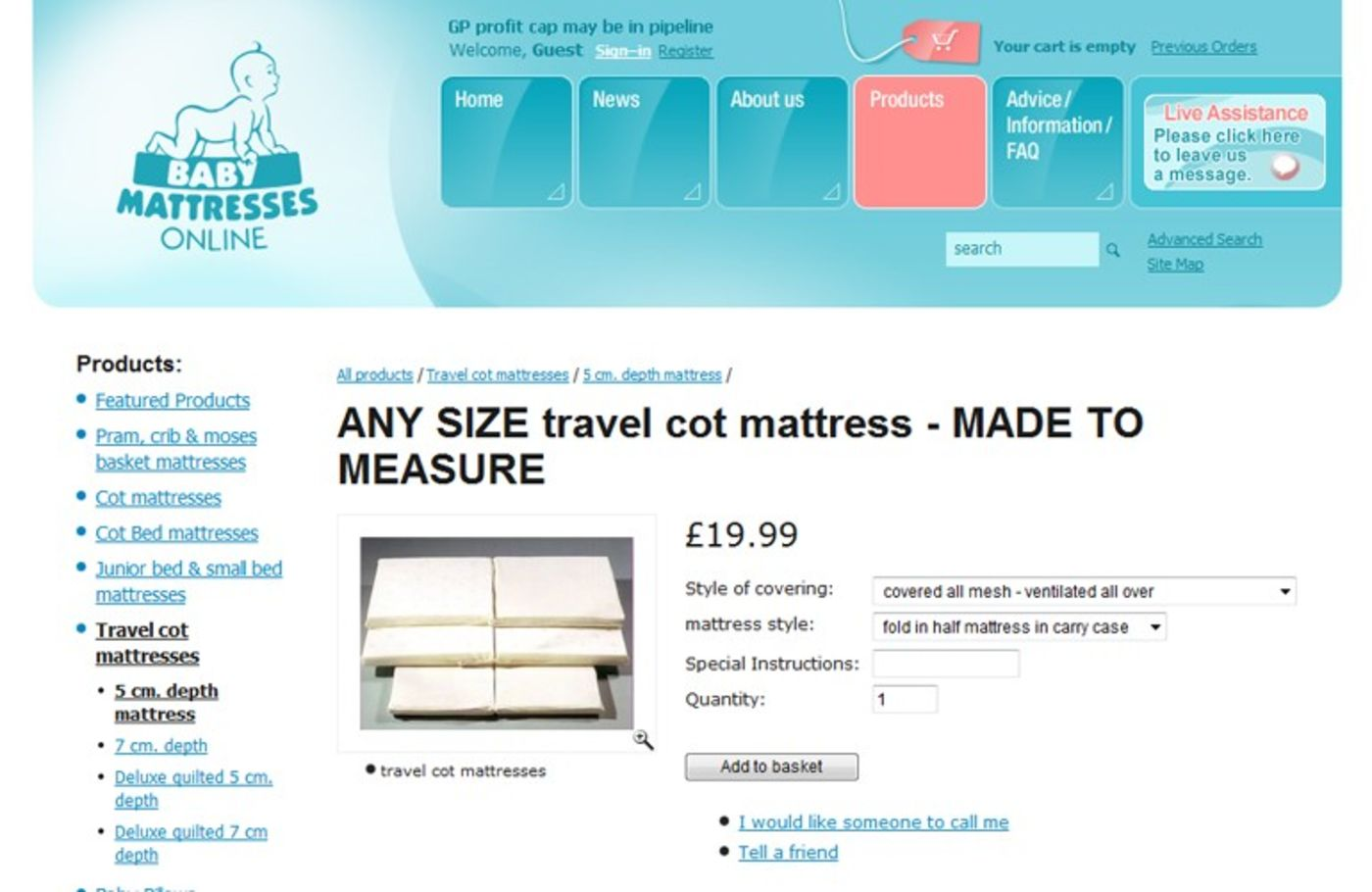Baby Mattresses Online 2006 Product