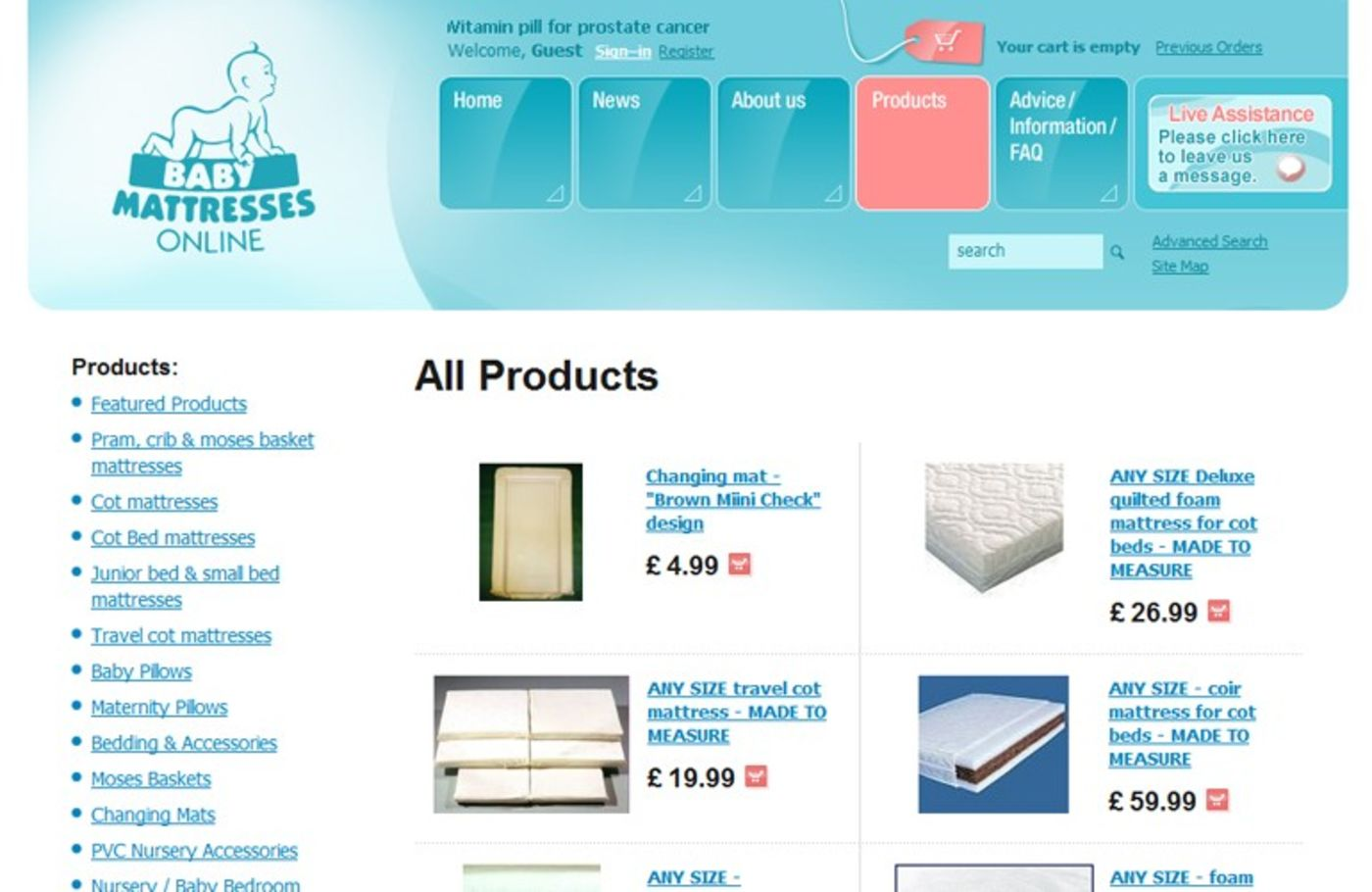 Baby Mattresses Online 2006 Products