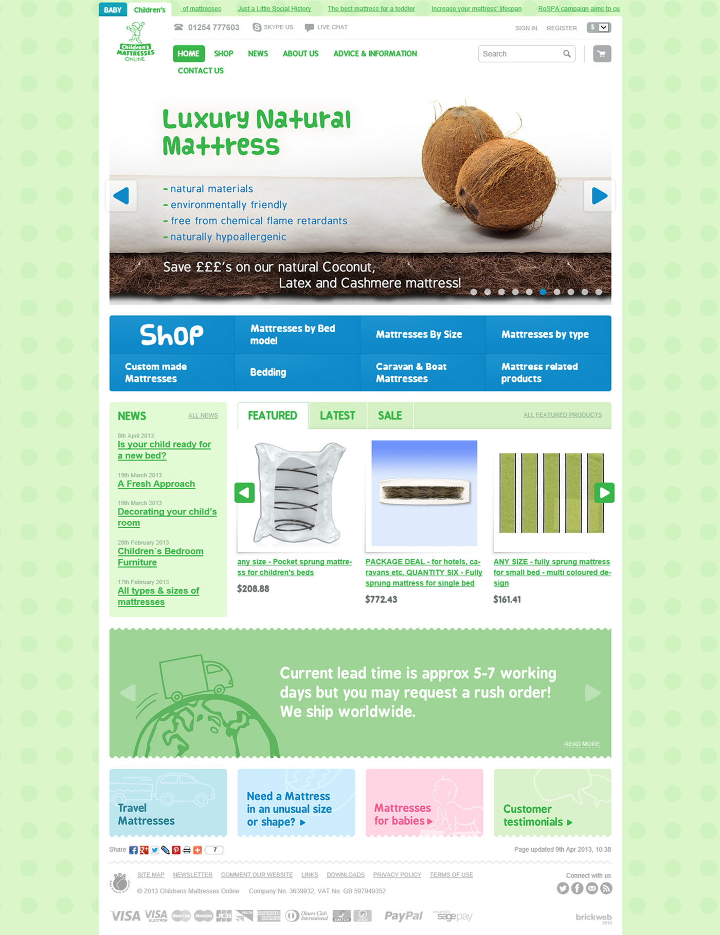 Childrens Mattresses Homepage