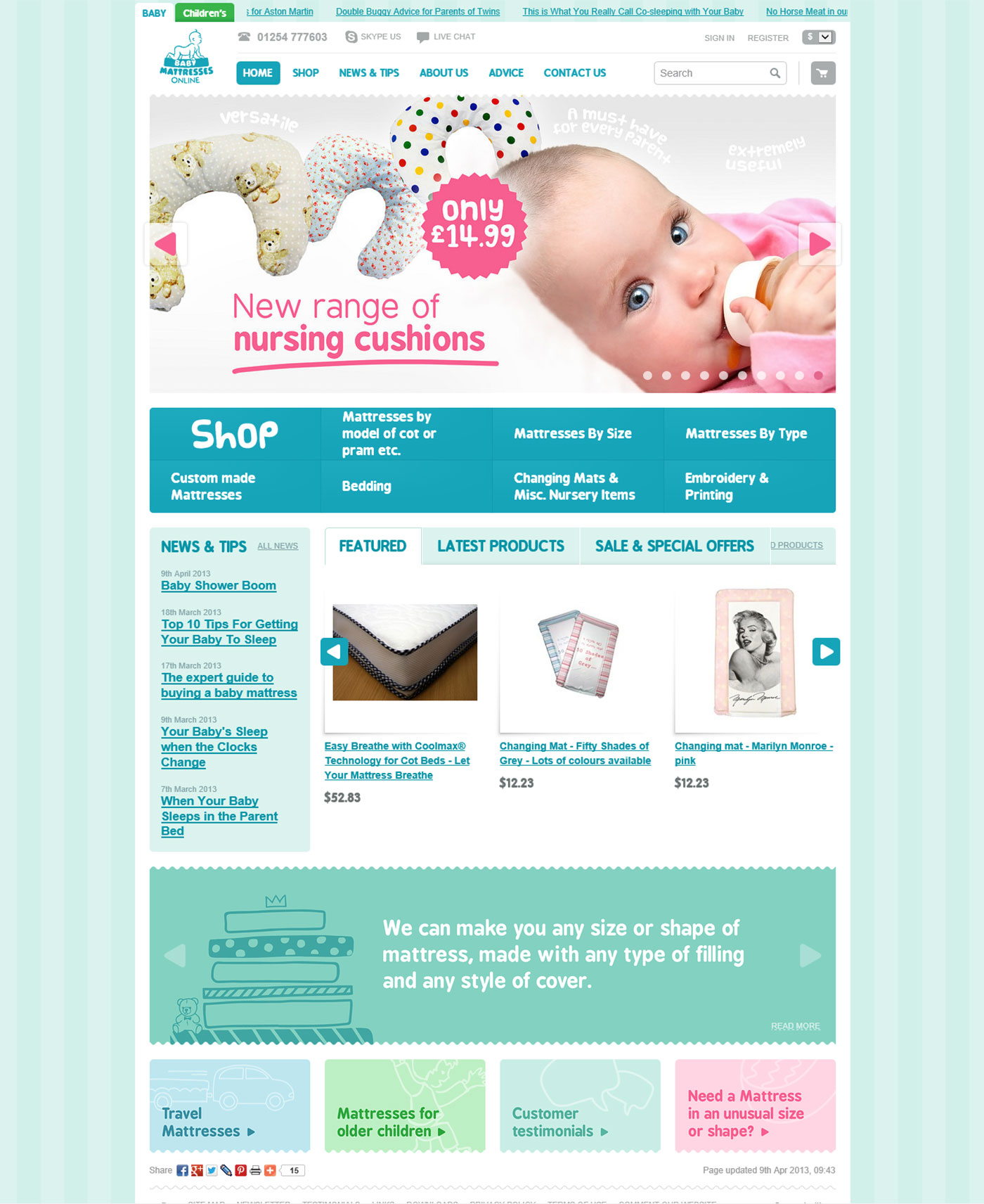 Baby Mattresses Online Home Page