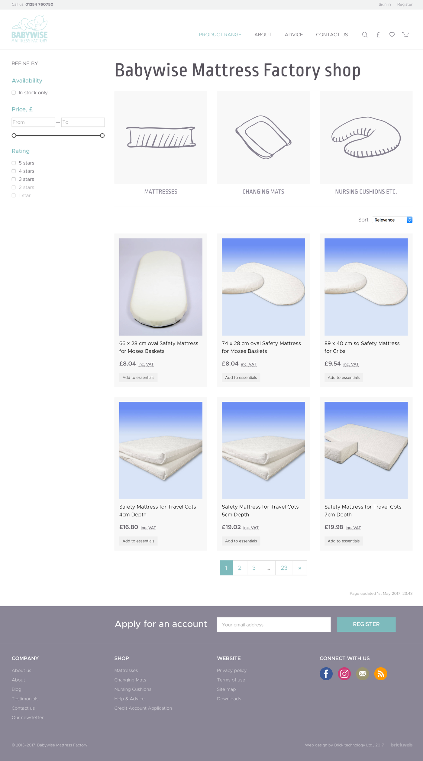 Babywise Mattress Factory Products