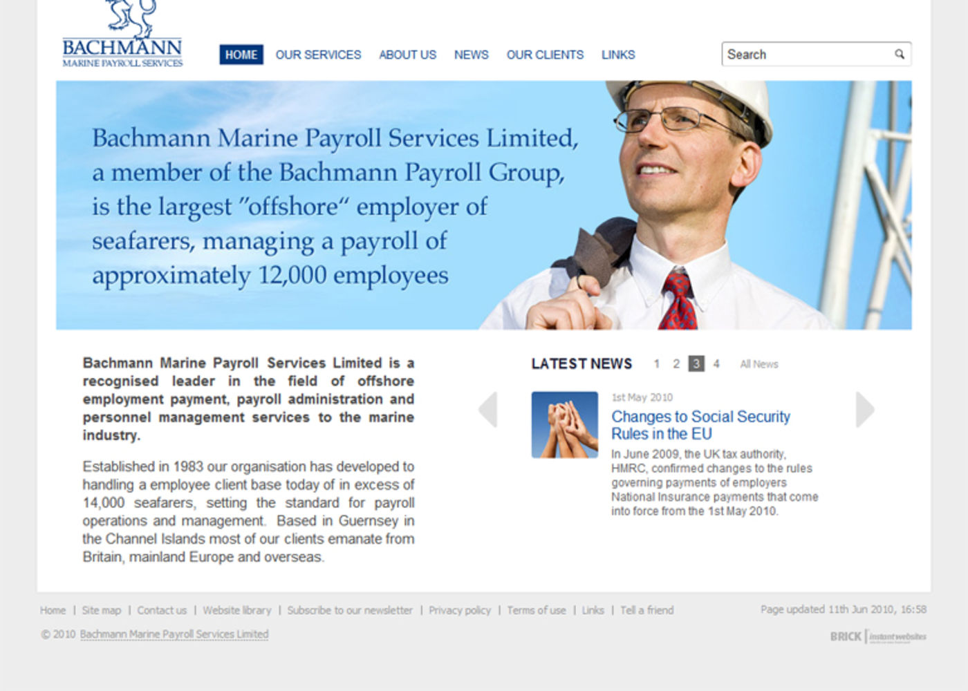 Bachmann Marine Payroll Services Homepage footer