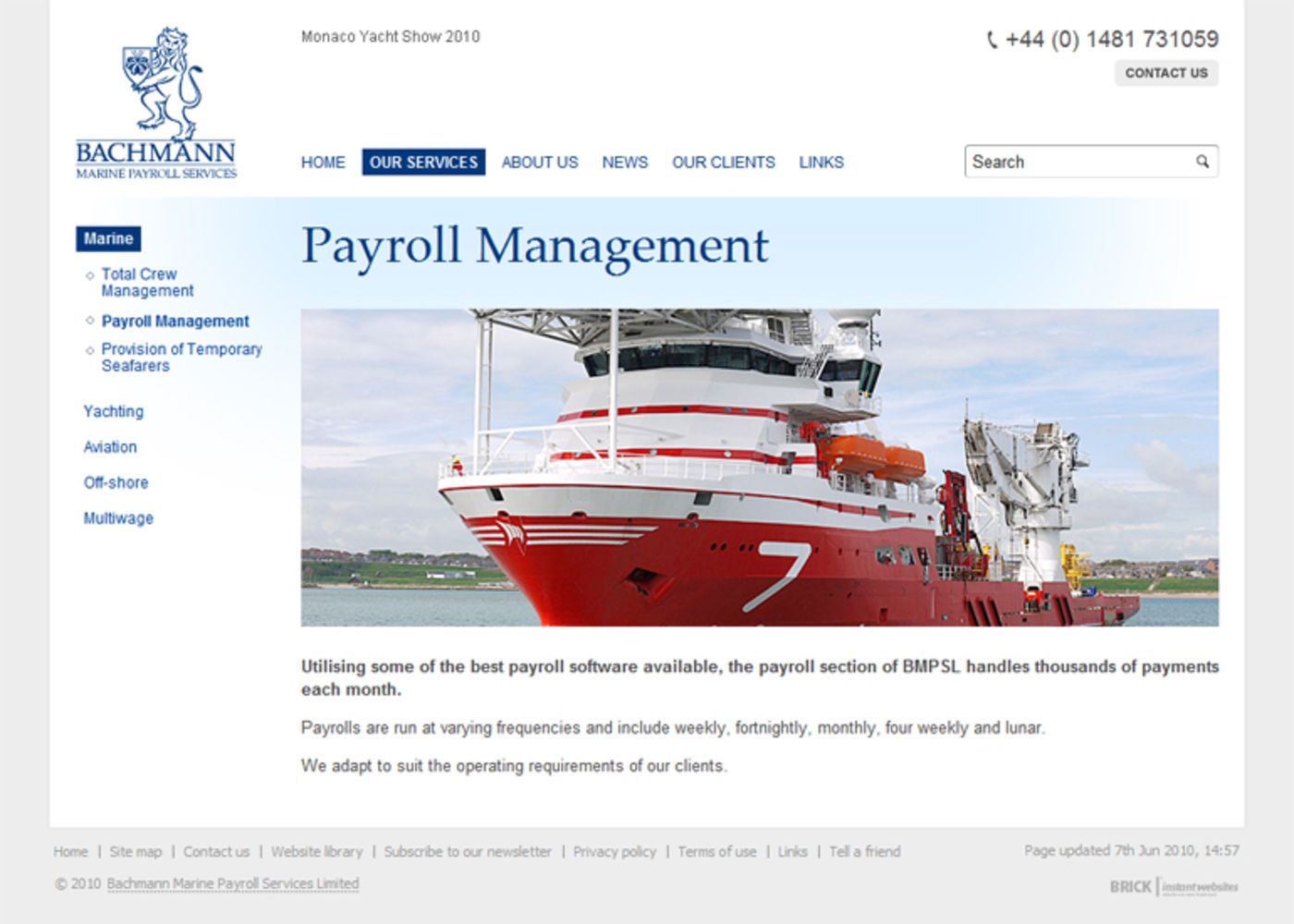 Bachmann Marine Payroll Services Regular page