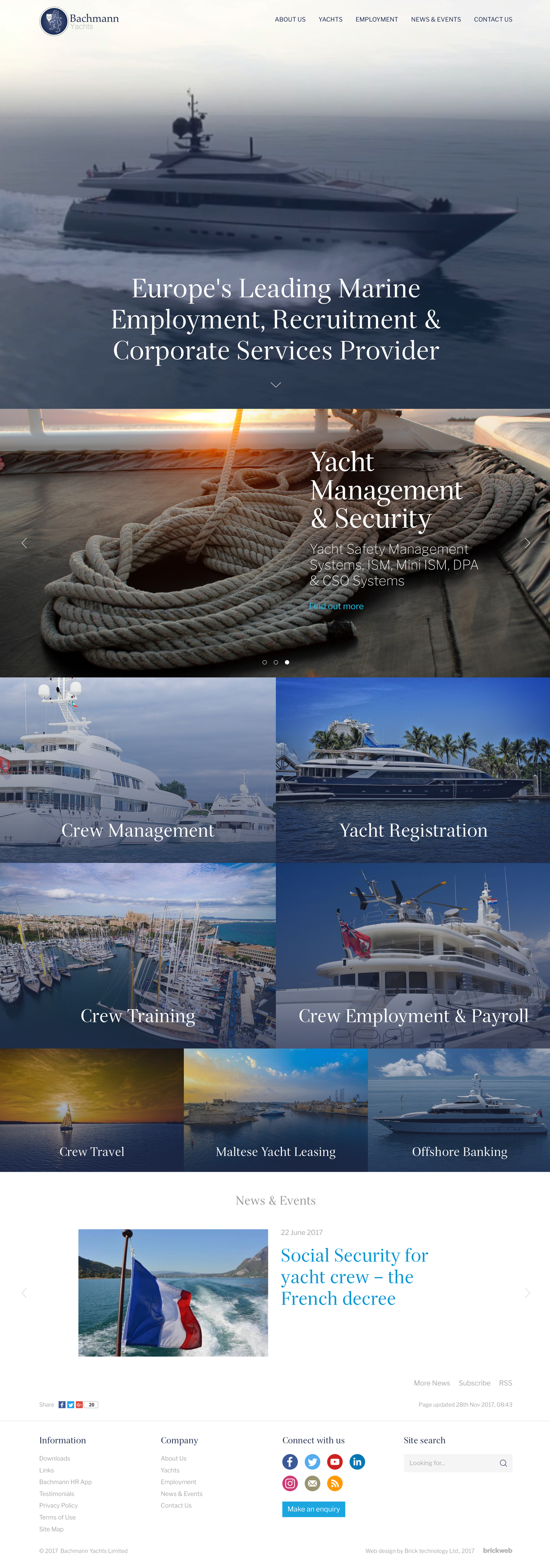 Bachmann Yachts Home page