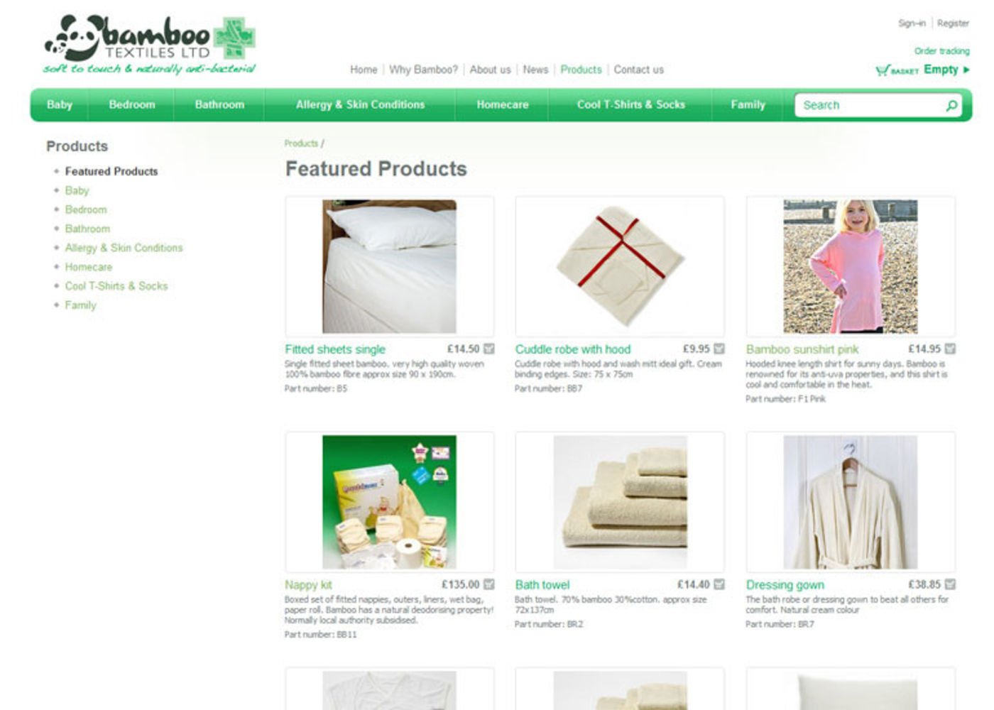 Bamboo Textiles Products