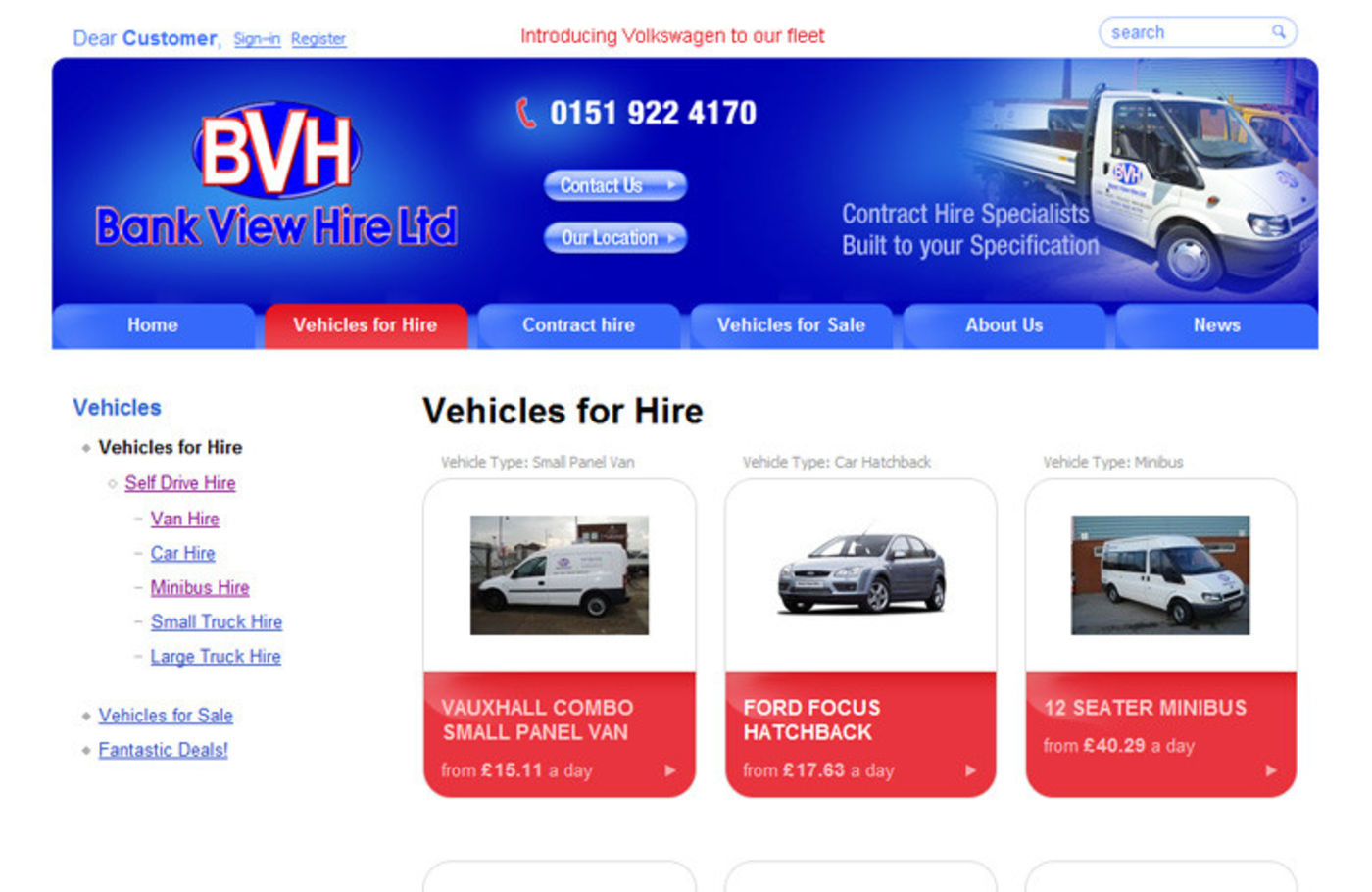 Bank View Hire Vehicles for Hire