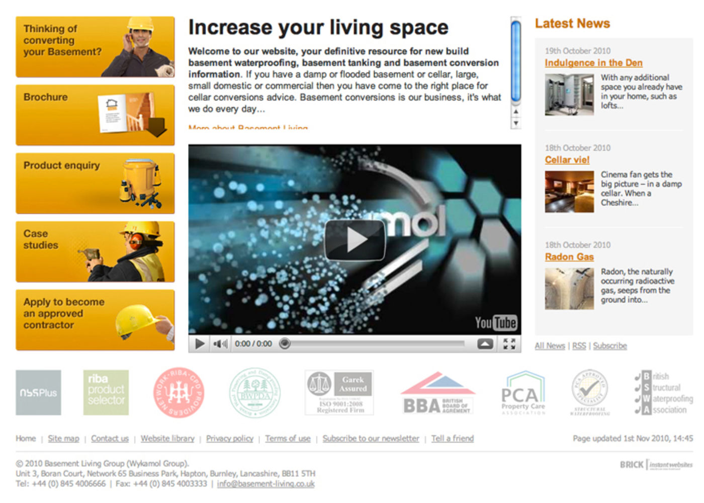 Basement Living Group Homepage footer - Basement Living Group