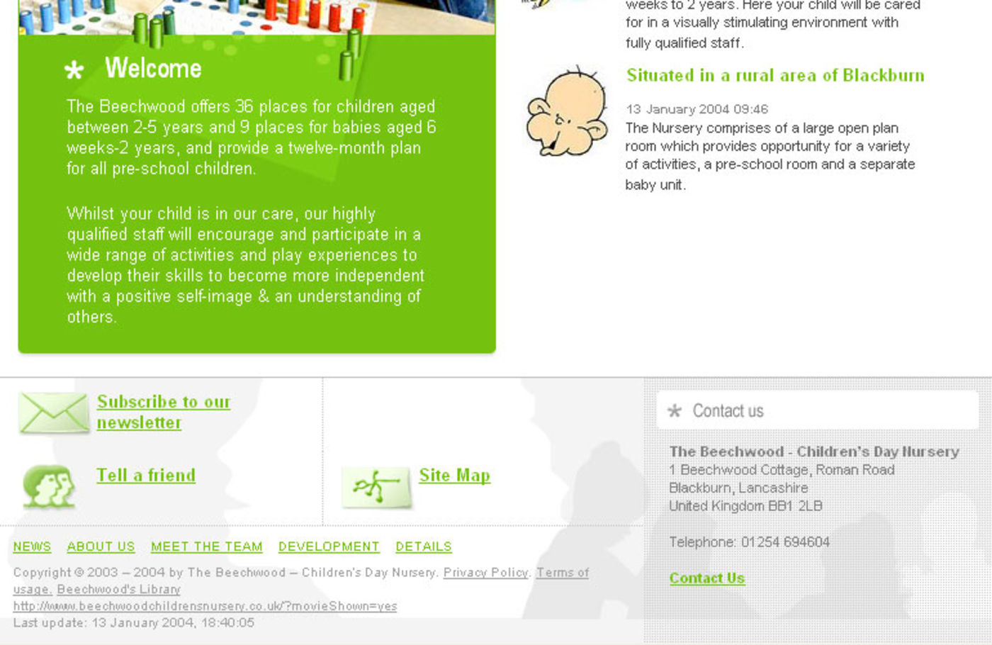 Beechwood Childrens Nursery Homepage footer