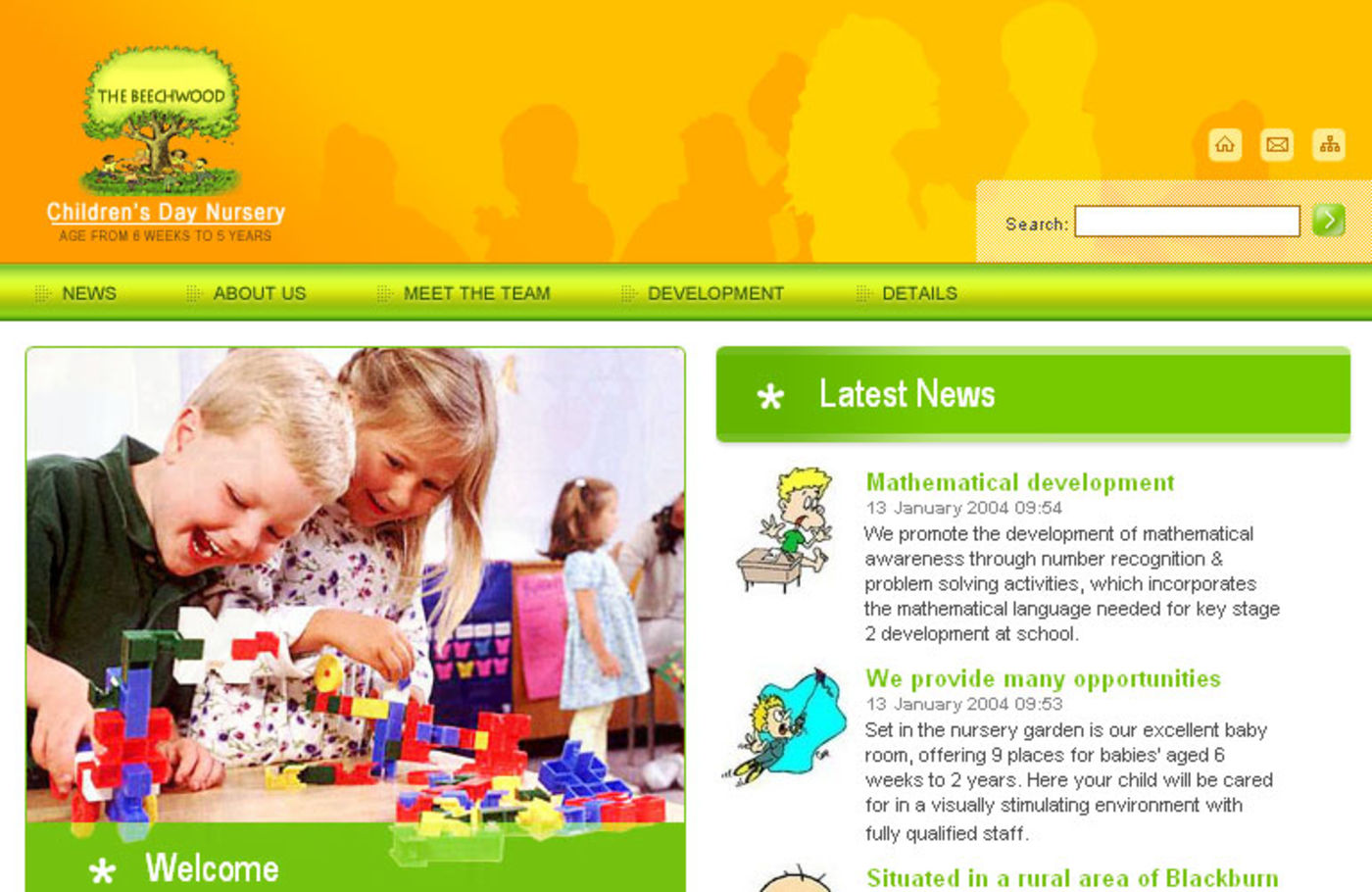 Beechwood Childrens Nursery Homepage header