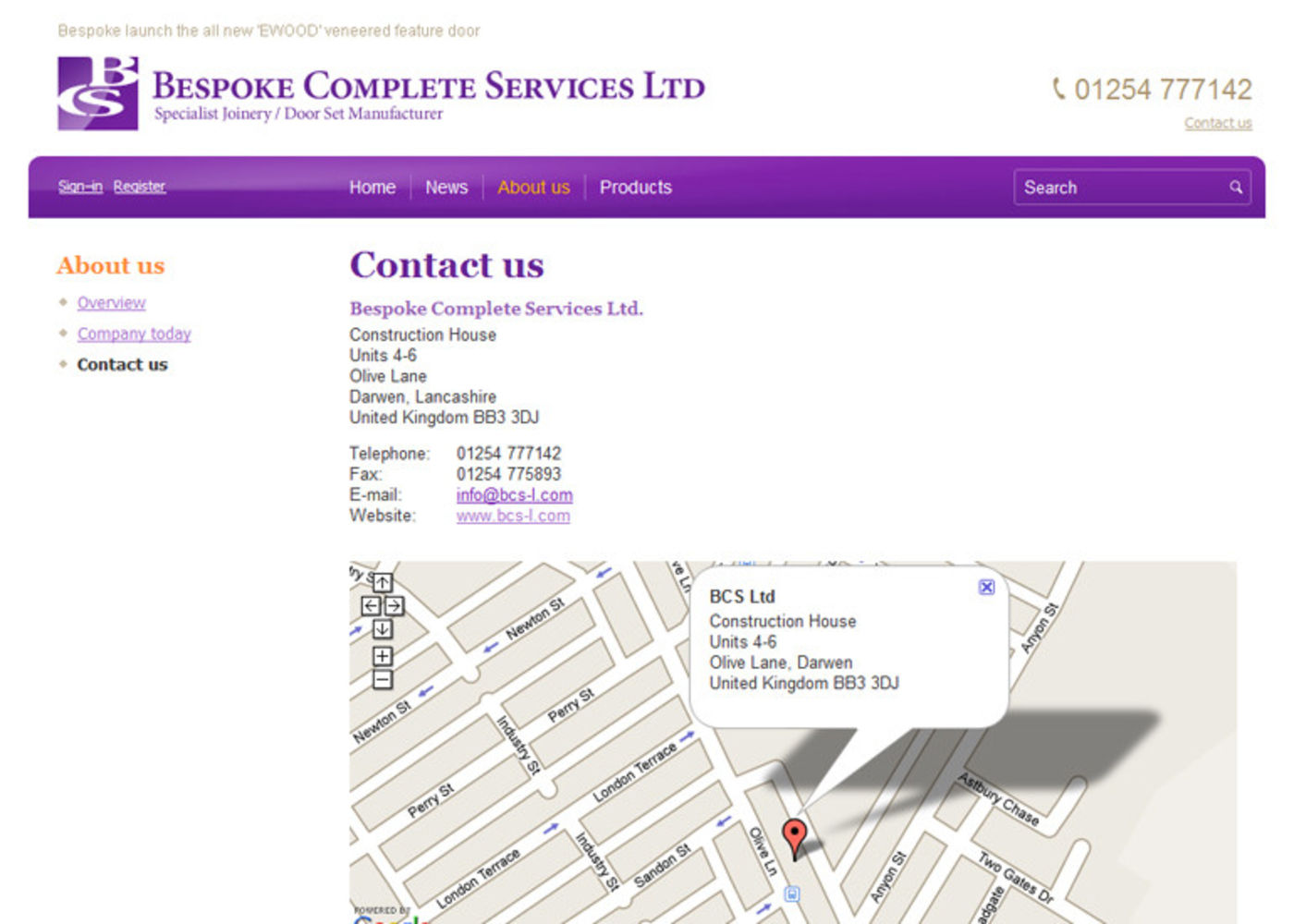 Bespoke Complete Services Ltd Contact us