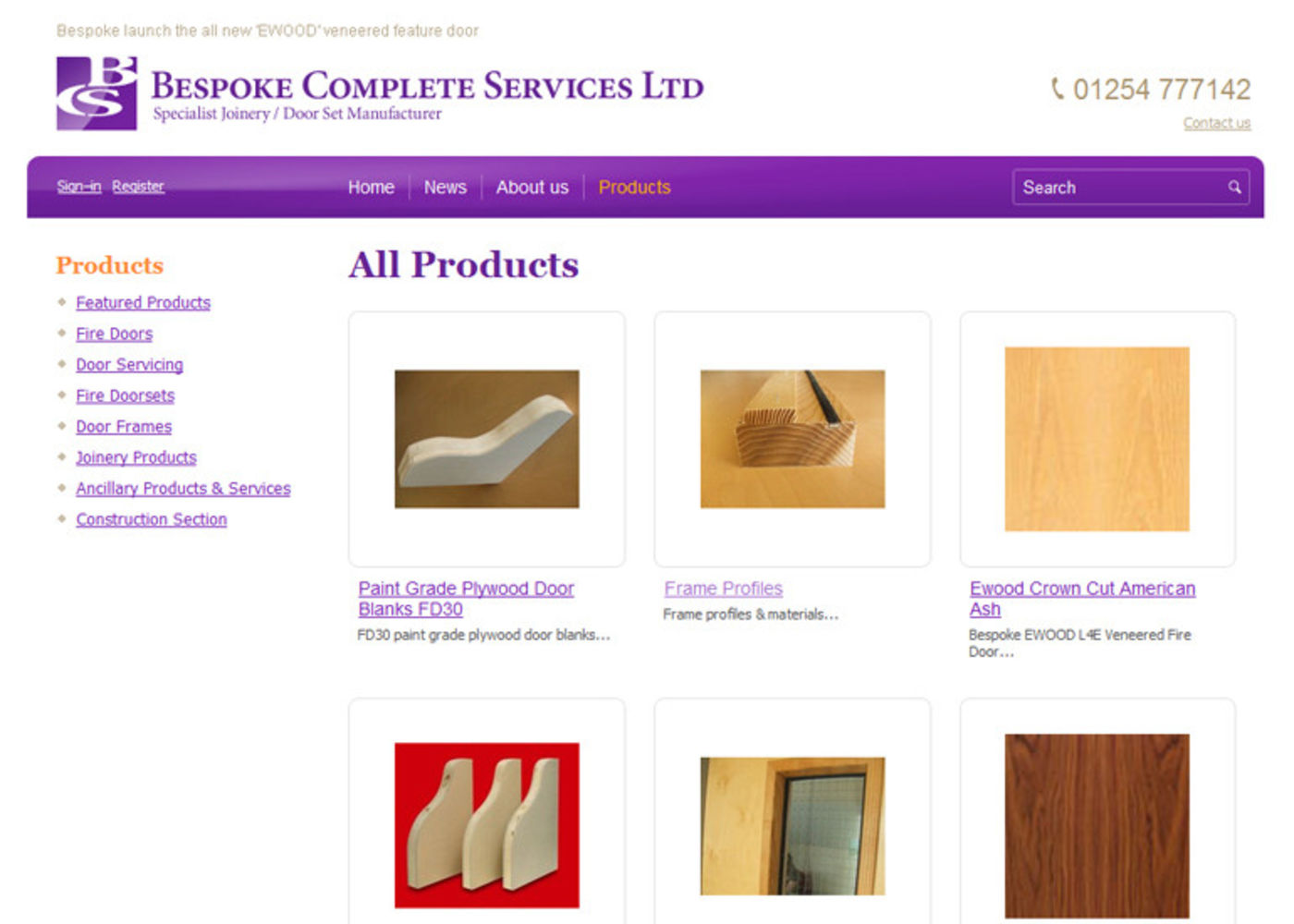 Bespoke Complete Services Ltd Products