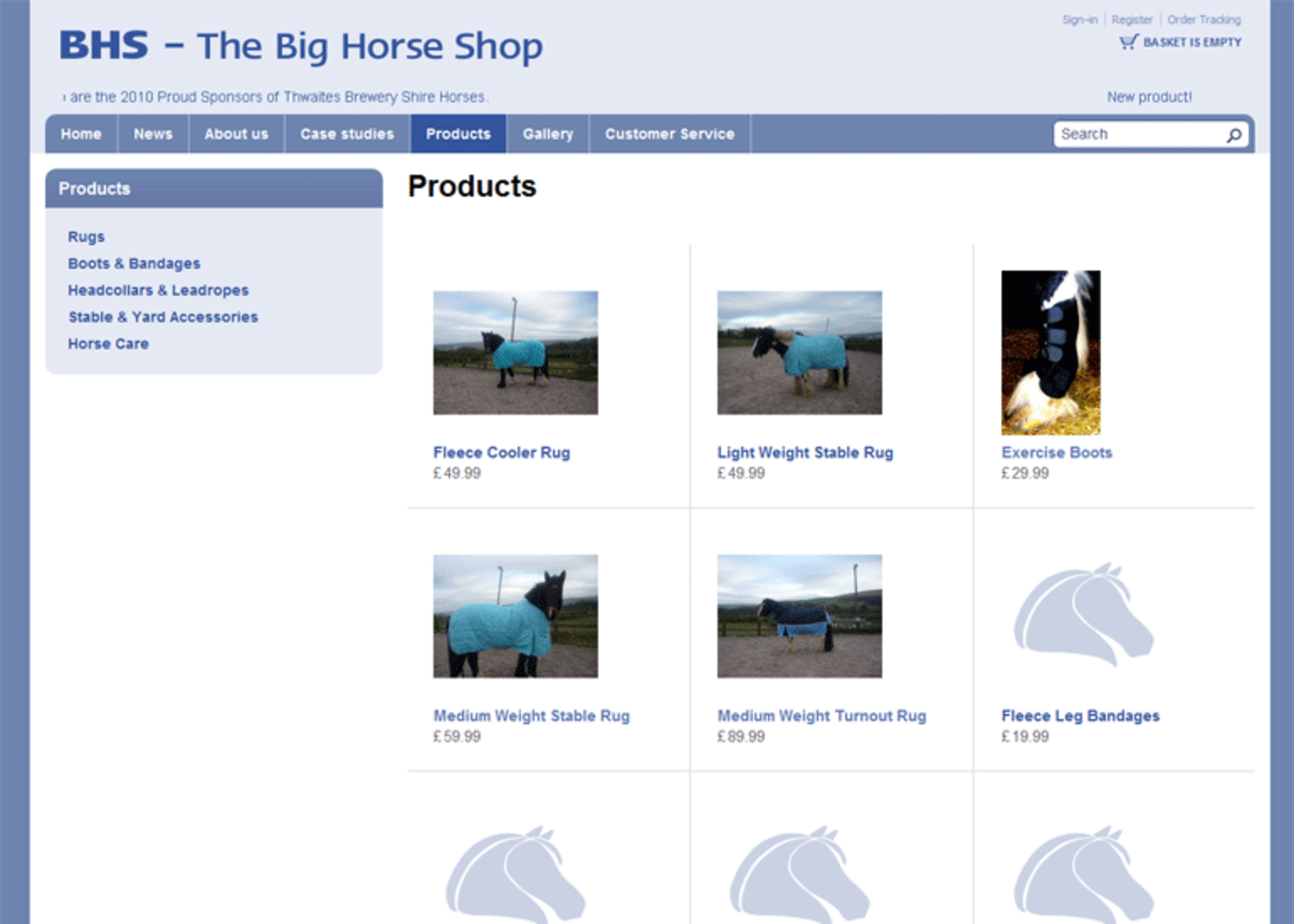 The Big Horse Shop (2009) Products