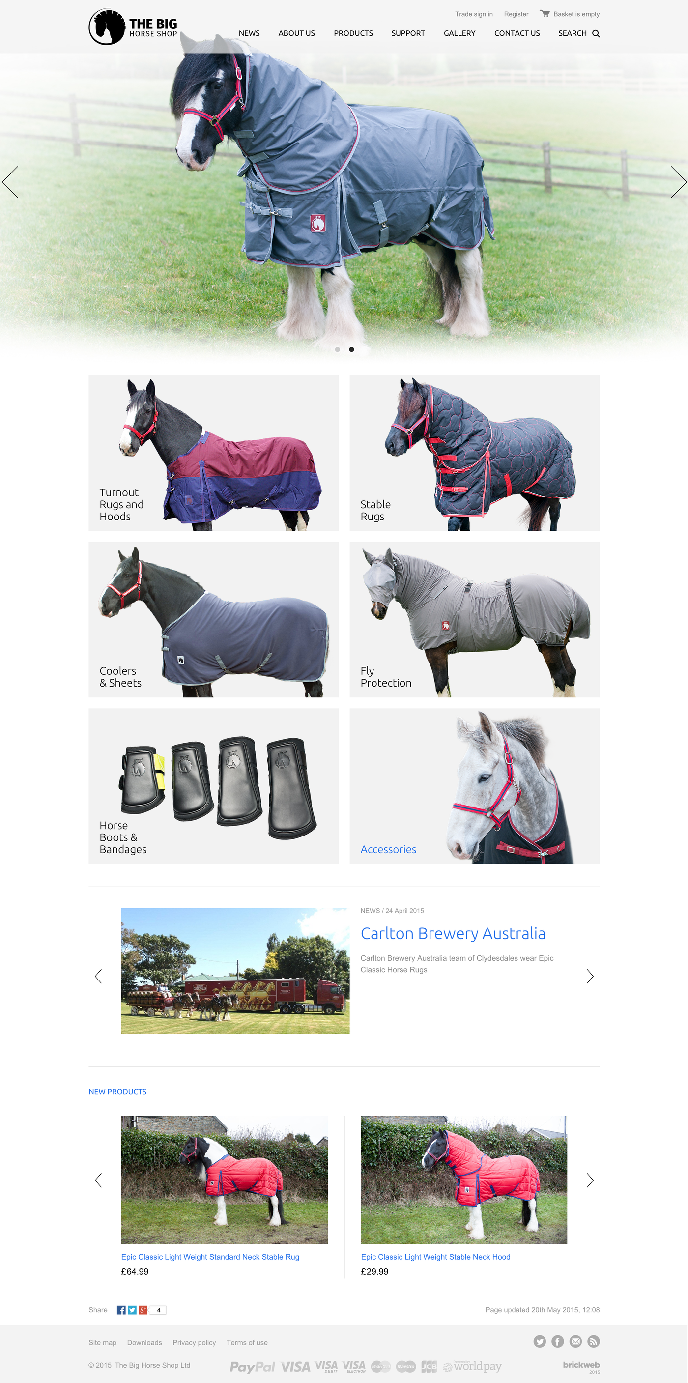 The Big Horse Shop Home page