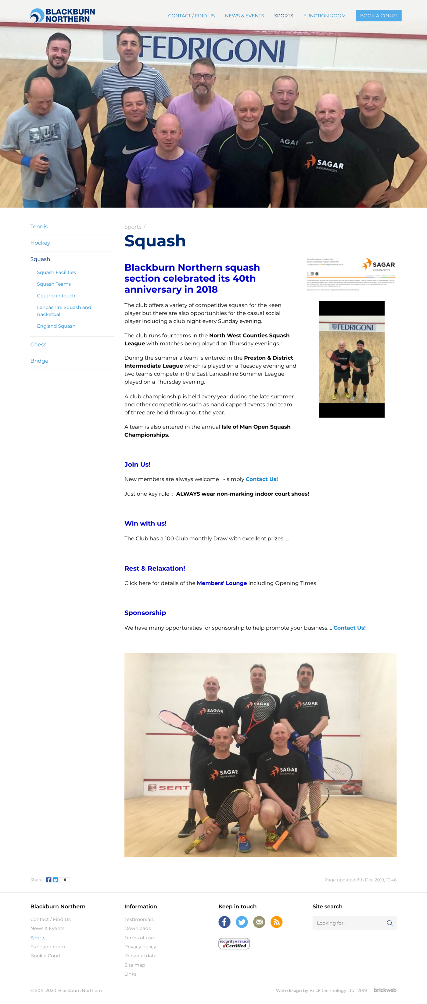 Blackburn Northern Sports Club Squash