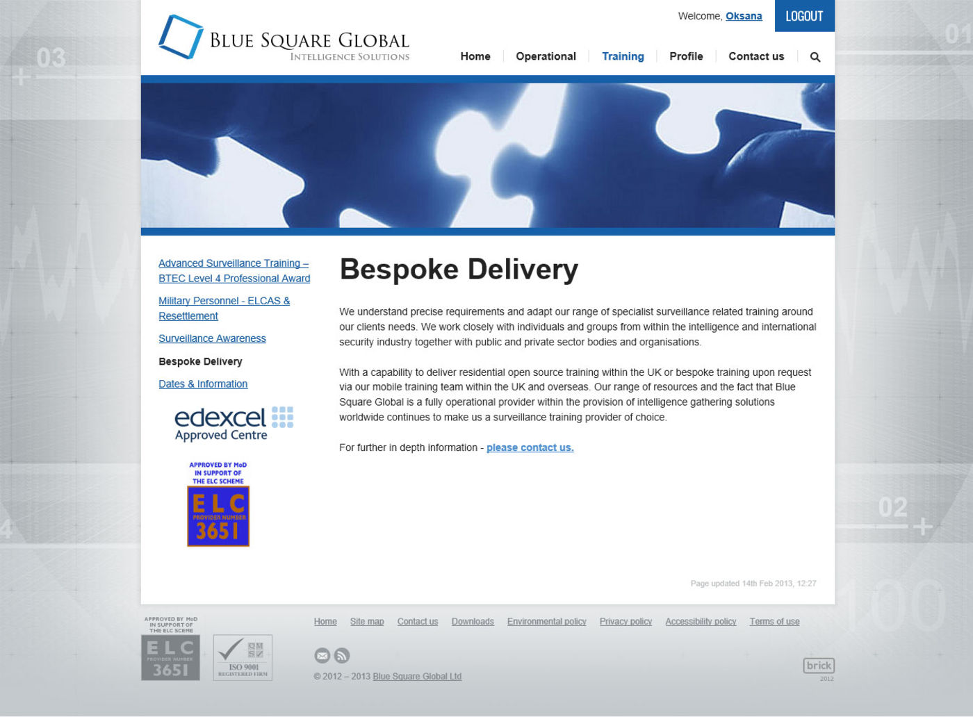 Blue Square Global Bespoke Delivery