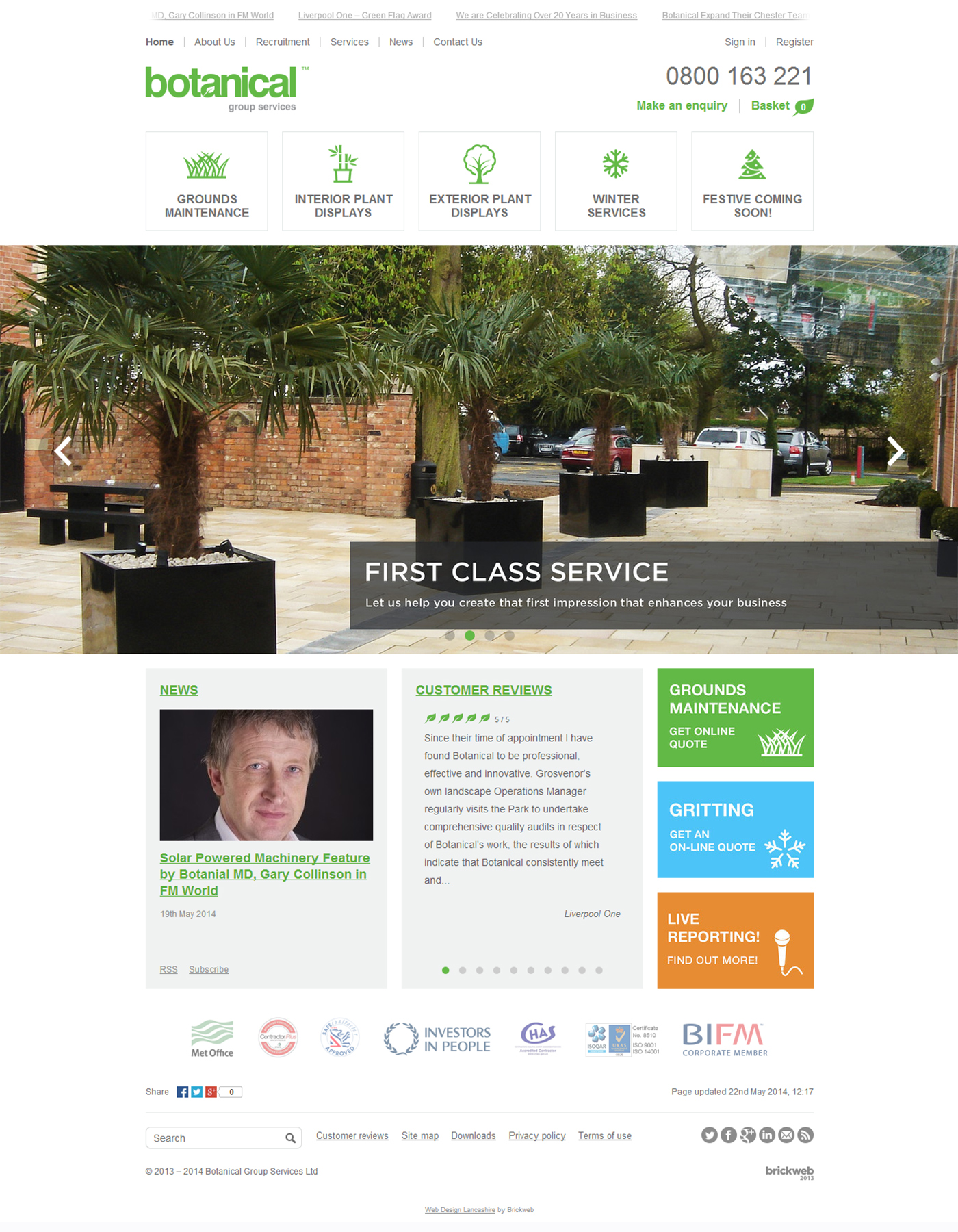 Botanical Group Services 2014 Homepage