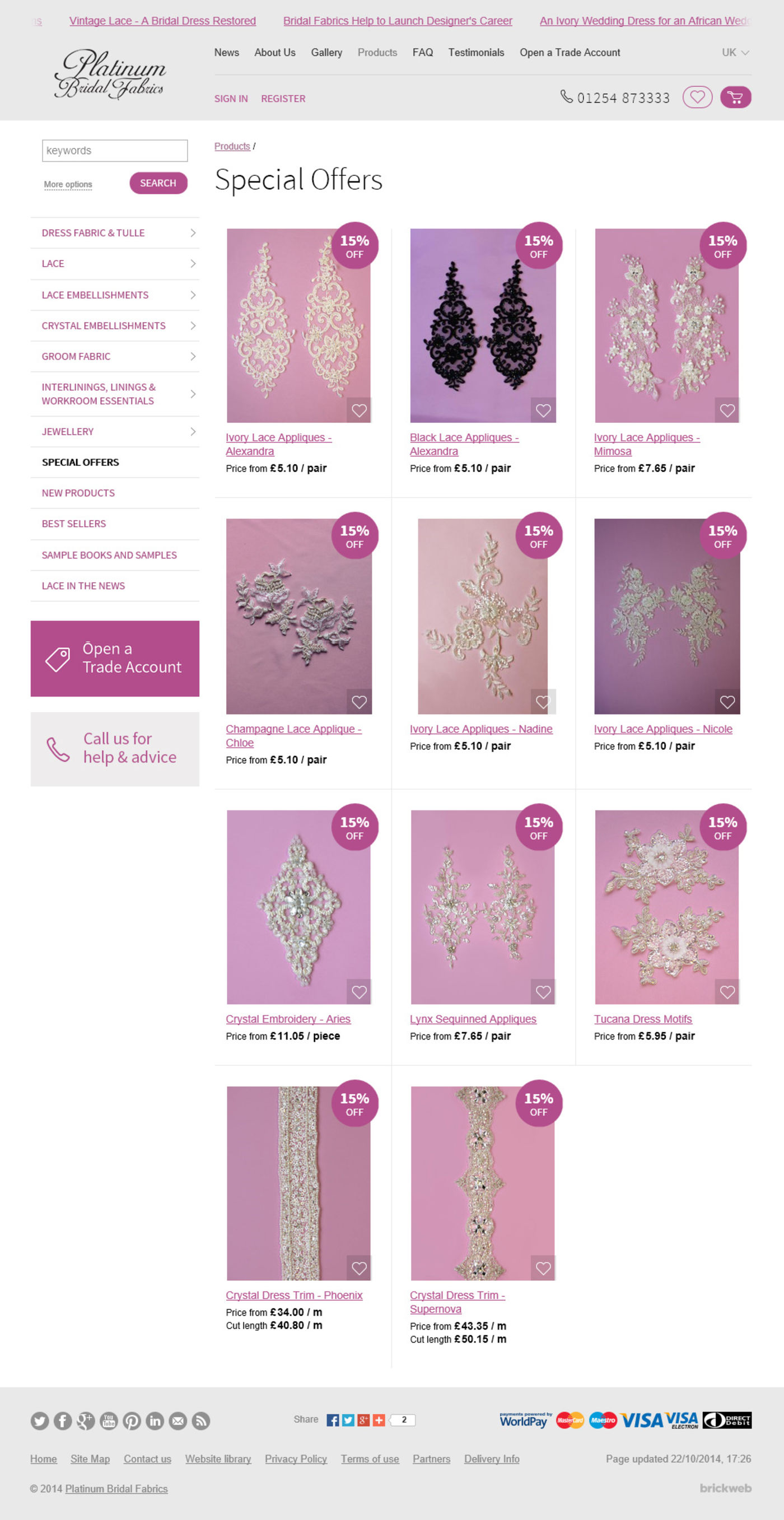 Bridal Fabrics 2014 Products