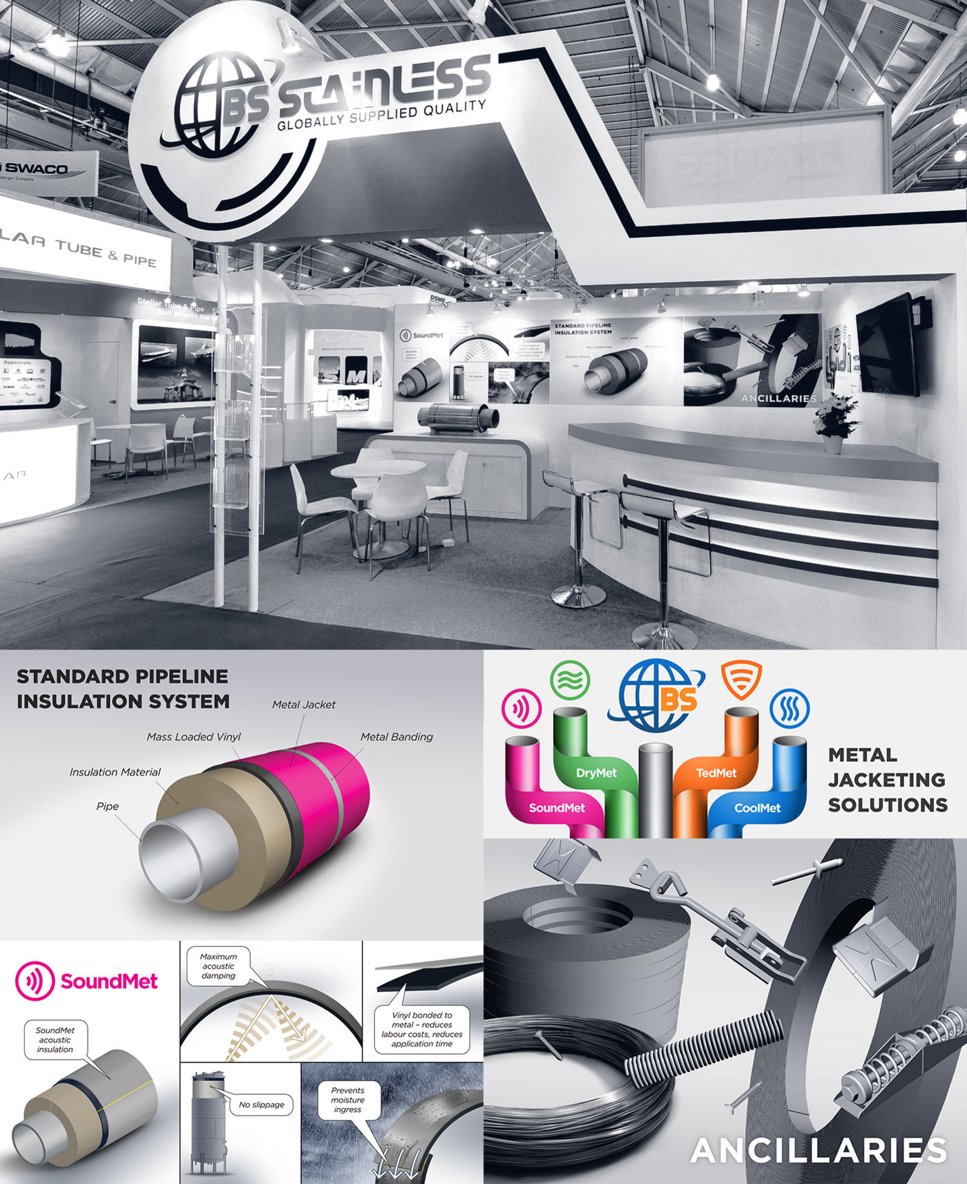 BS Stainless 2012 Gastech 2015 posters