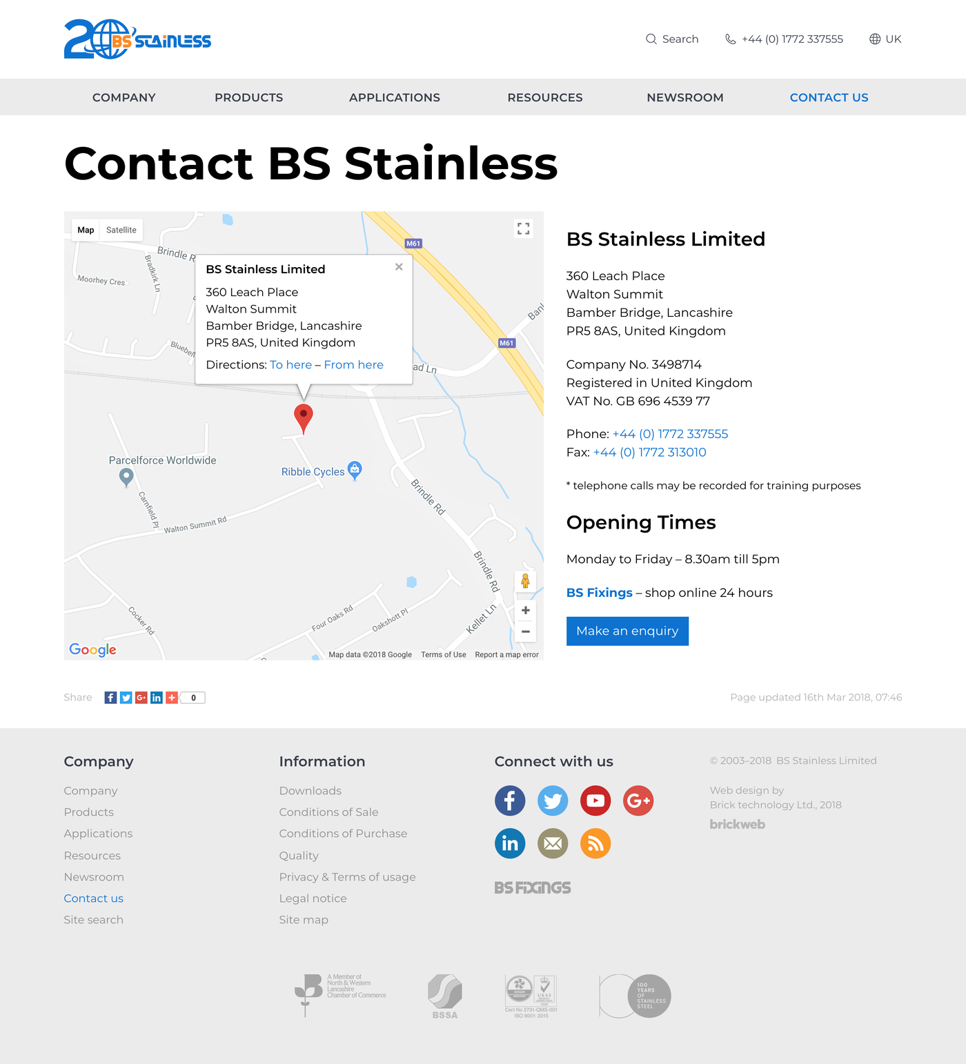 BS Stainless Contact us