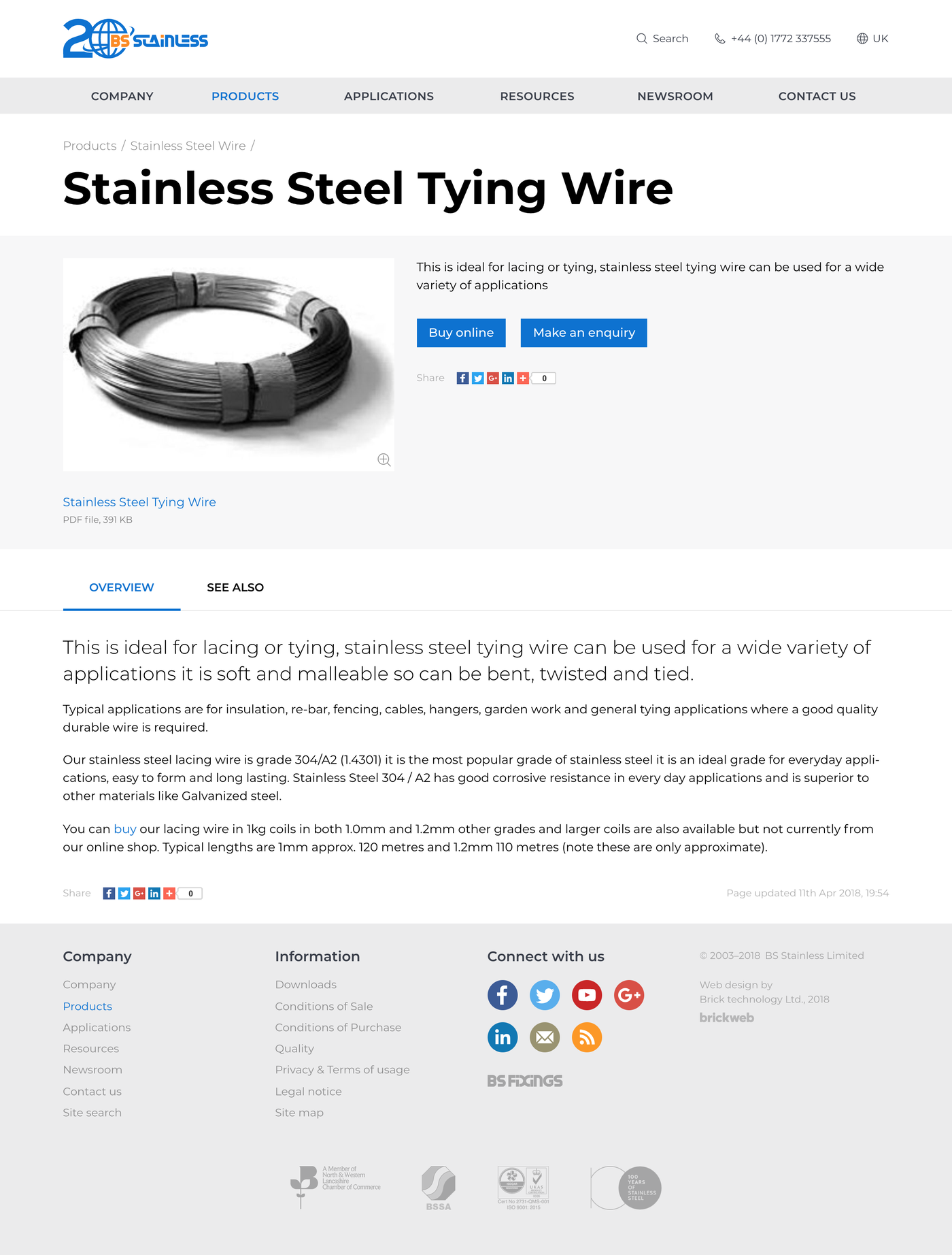BS Stainless Product