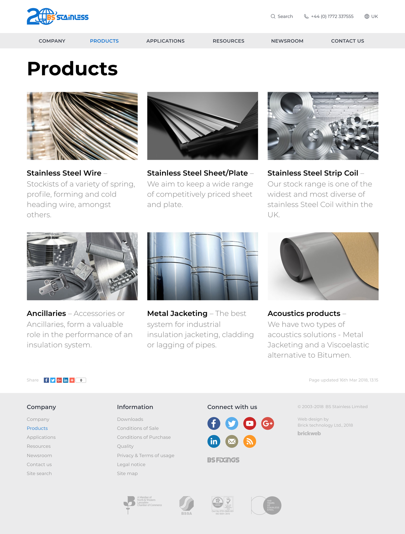 BS Stainless Products