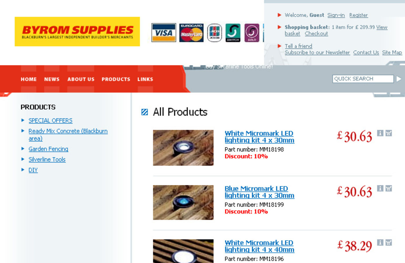 Byrom Supplies Products