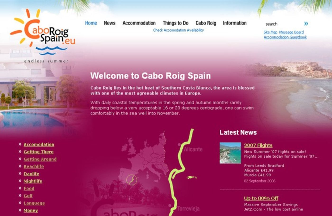 Cabo Roig Spain Homepage header - Cabo Roig Spain