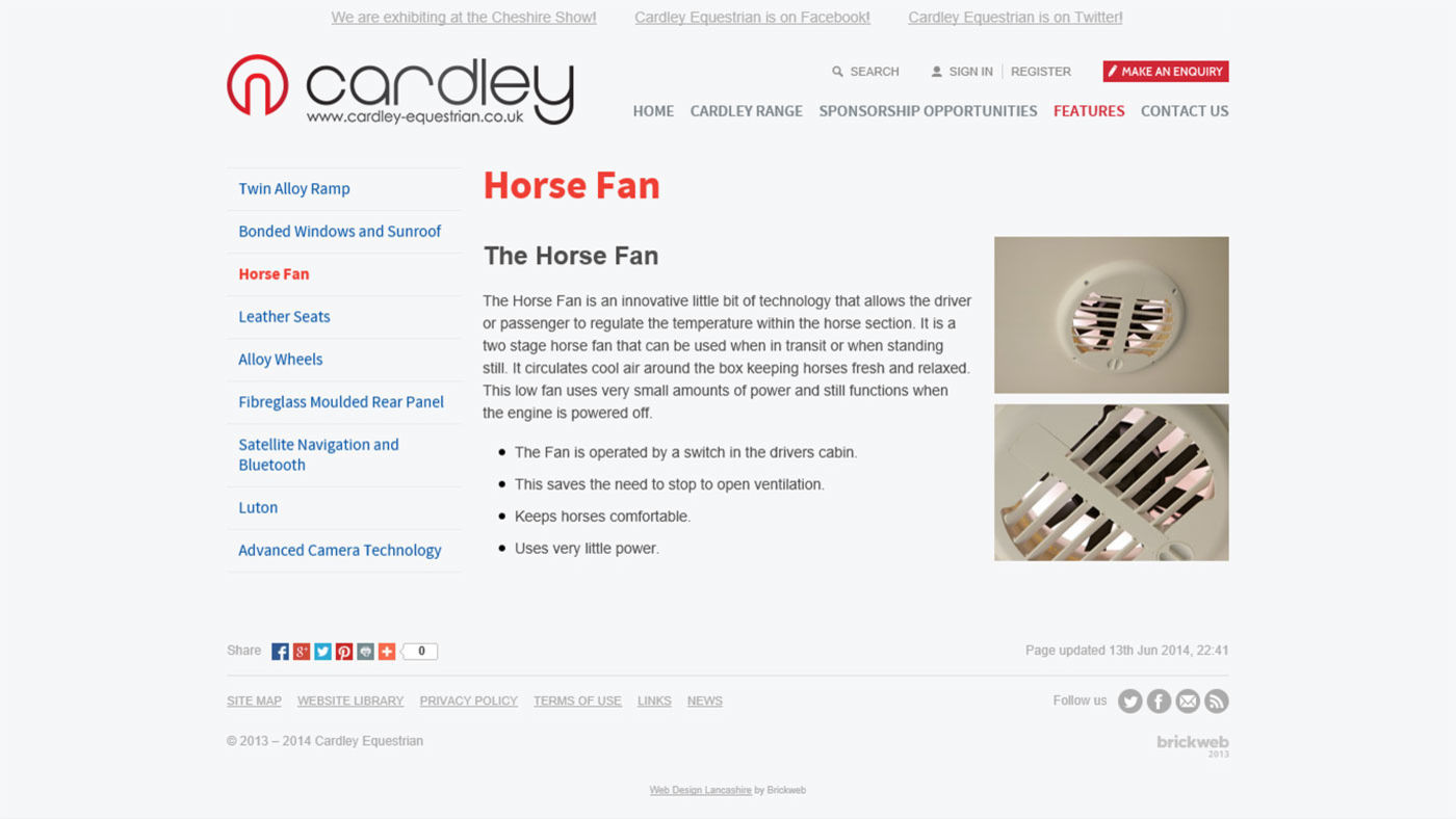 Cardley Equestrian Horse Fan