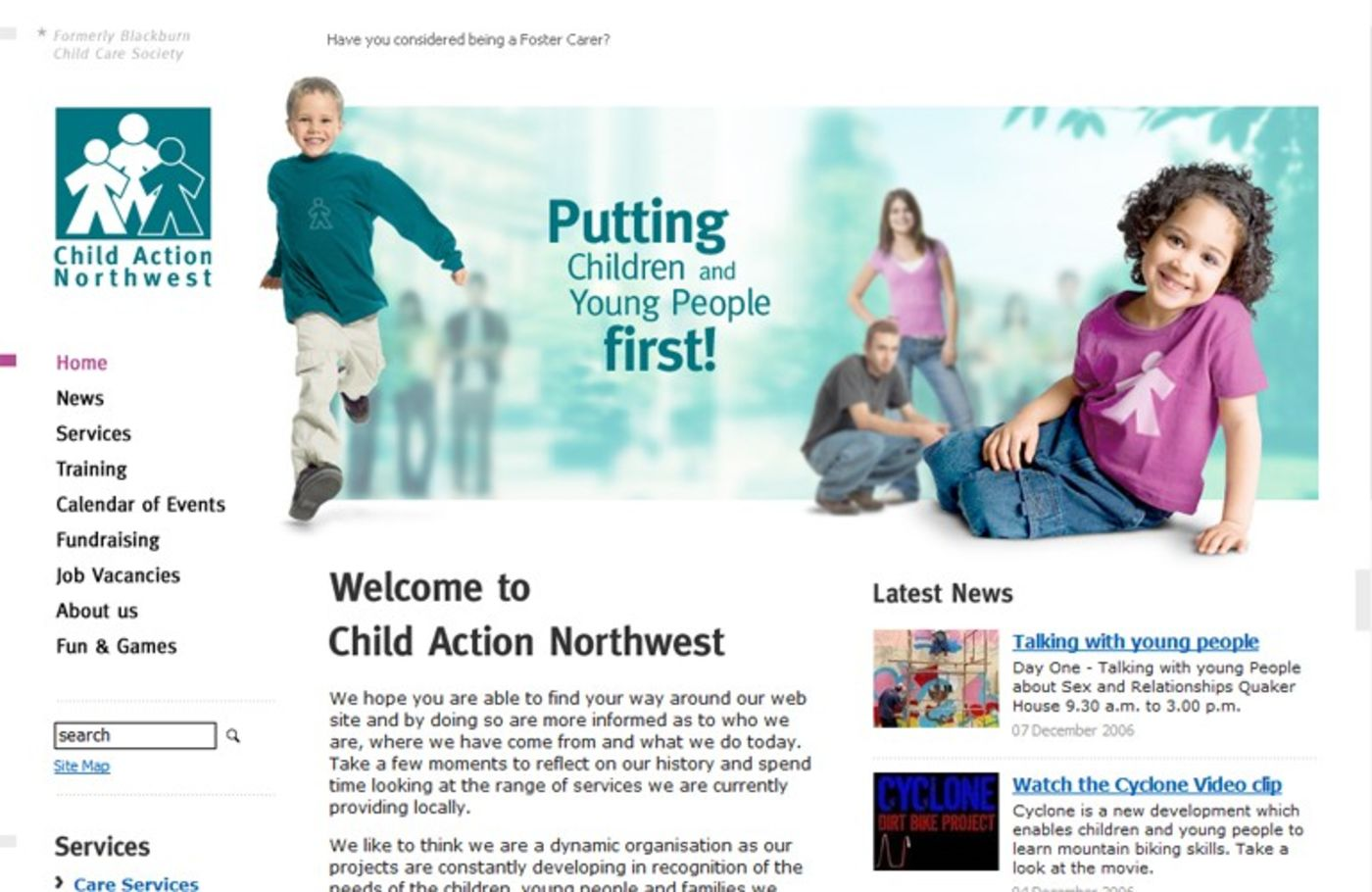 Child Action Northwest Homepage header