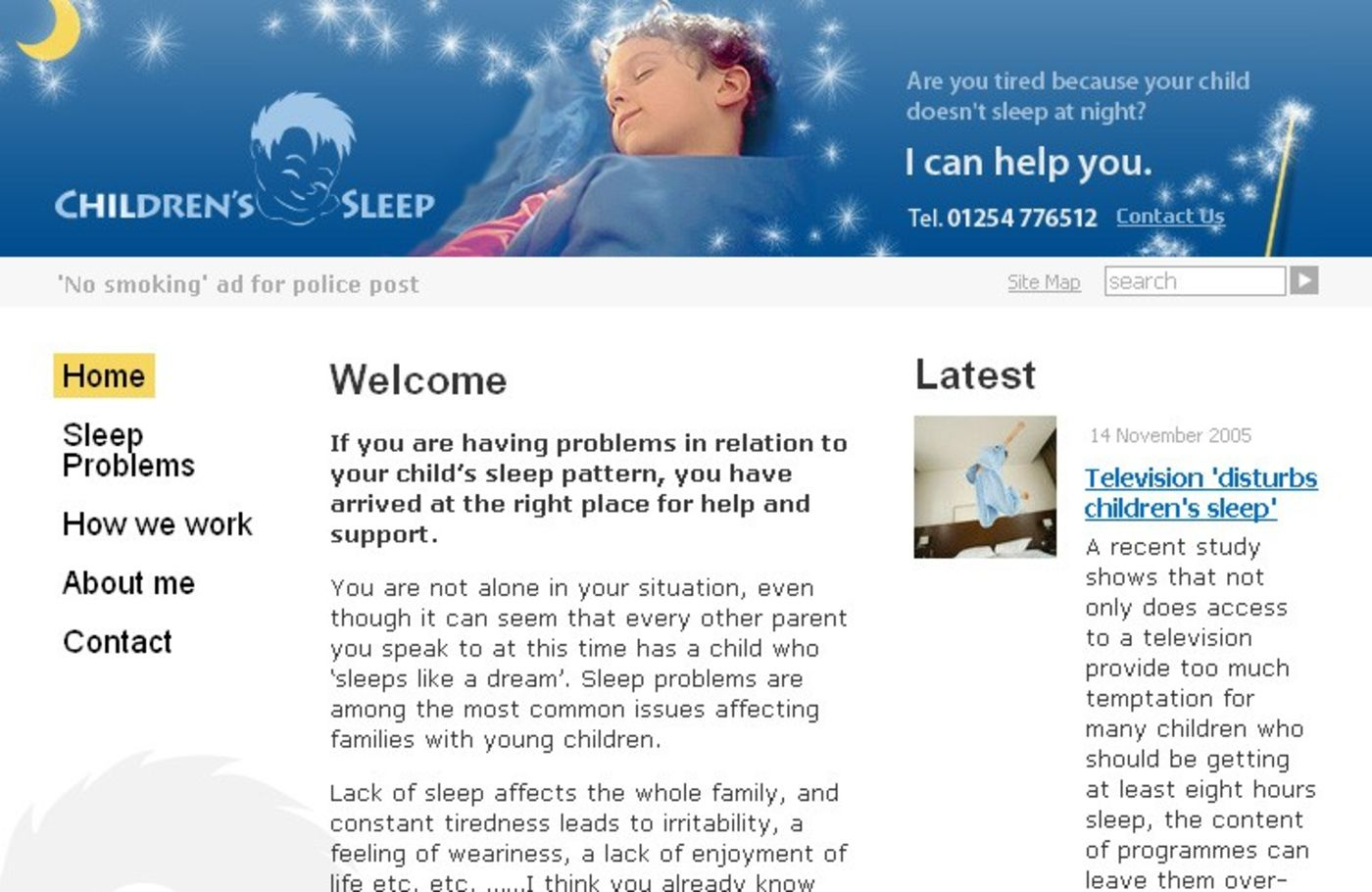 Childrens Sleep Homepage header