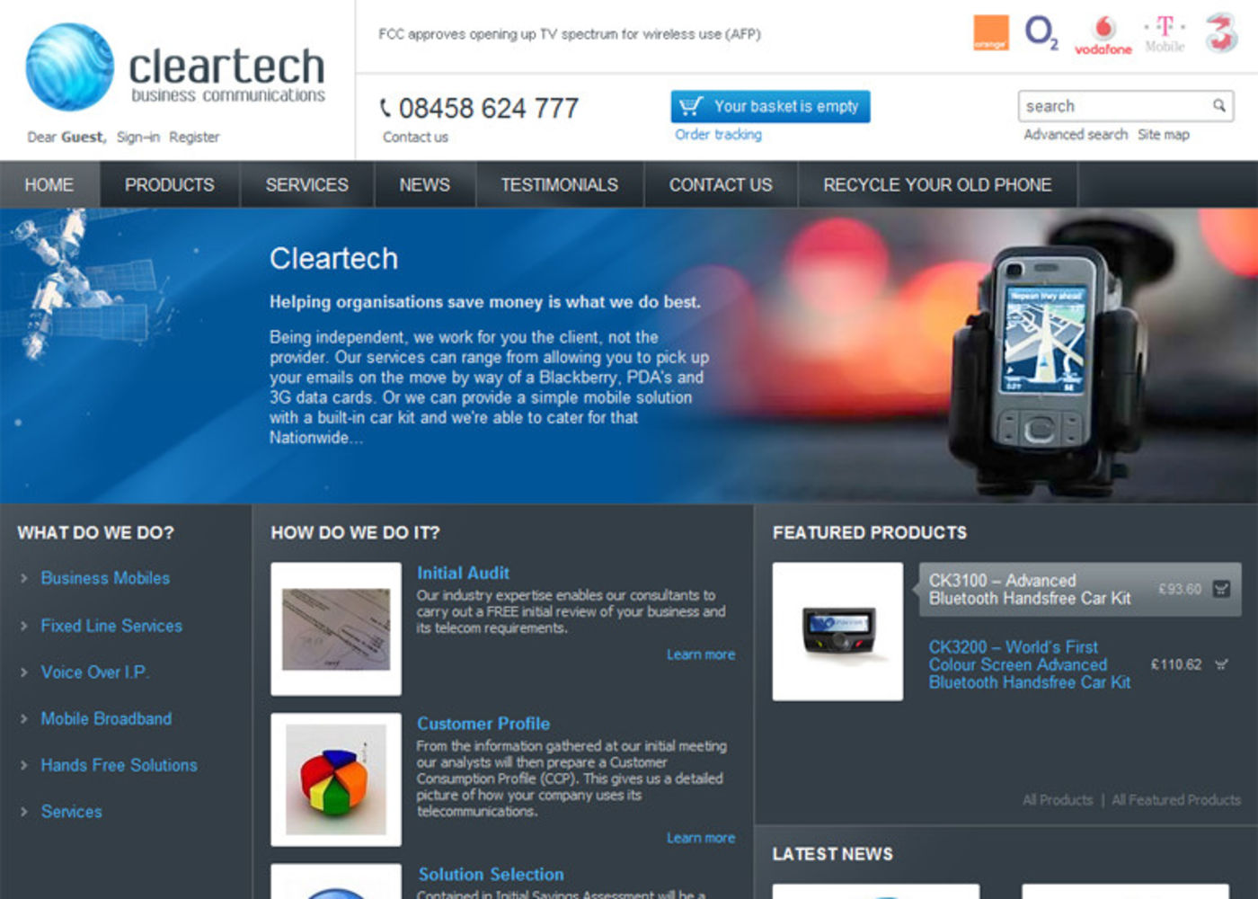 Cleartech Business Communications Homepage header