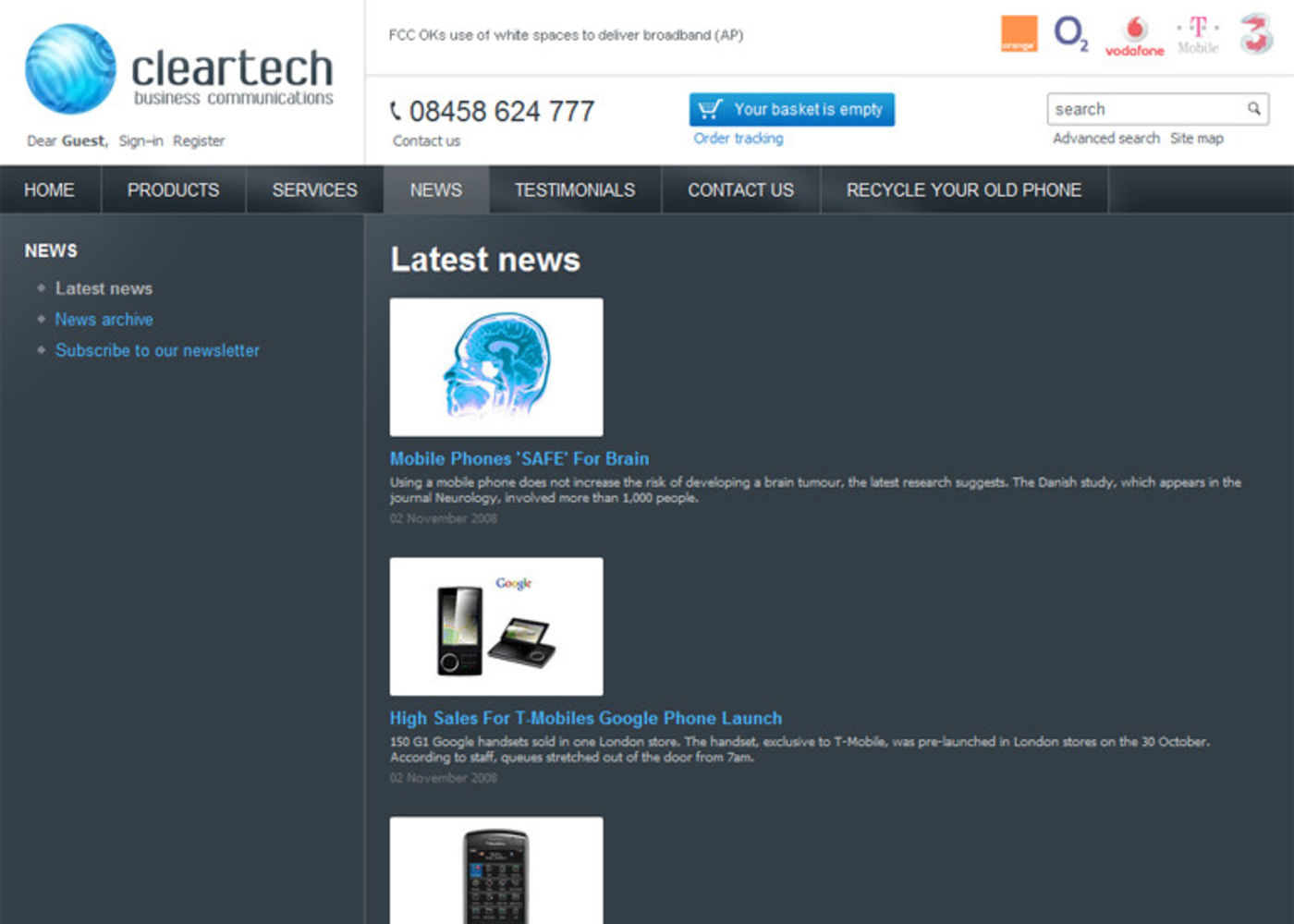 Cleartech Business Communications Latest news