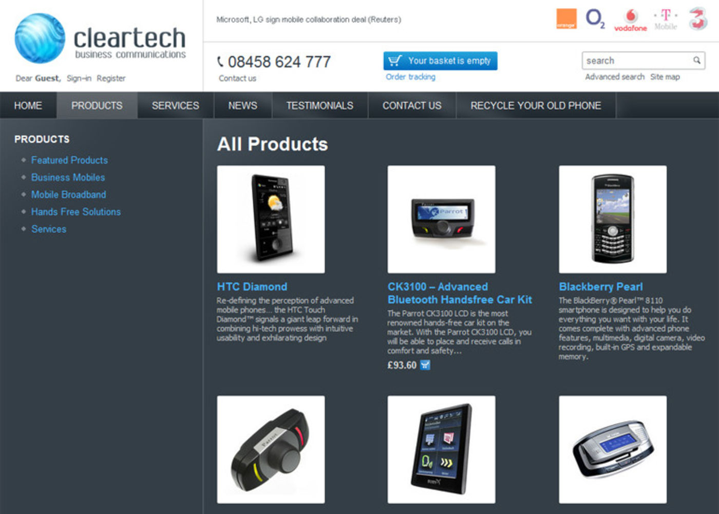 Cleartech Business Communications Products