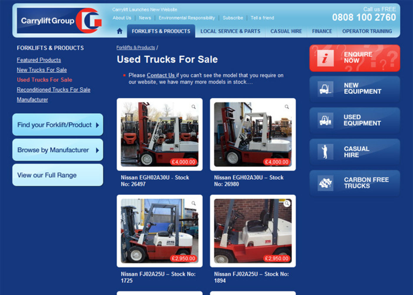The Carrylift Group 2006 Products page