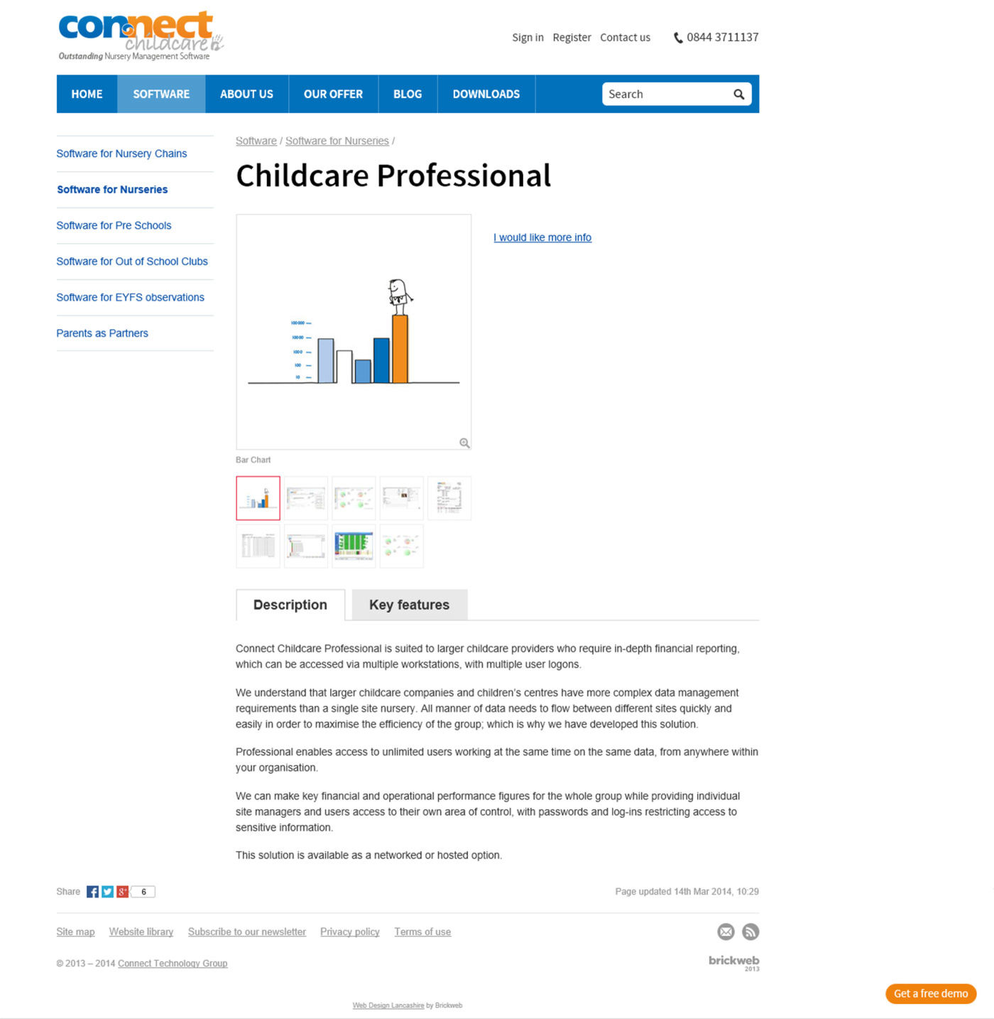 Connect Child Care Page product