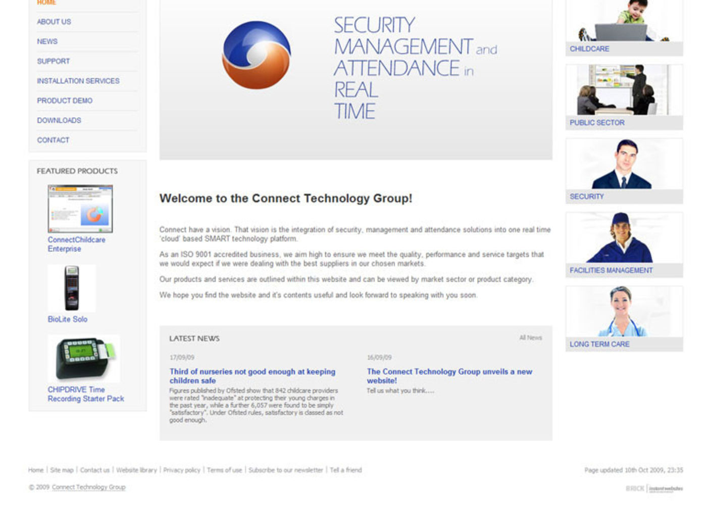 Connect Group Homepage footer